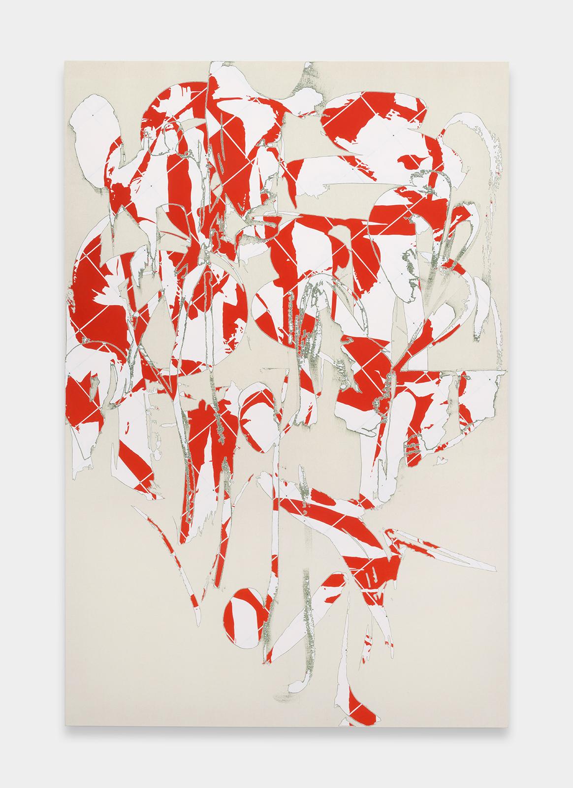 Zak Prekop  Two Grids, Four Colors  2015 Oil on canvas 96h x 64w in ZP339