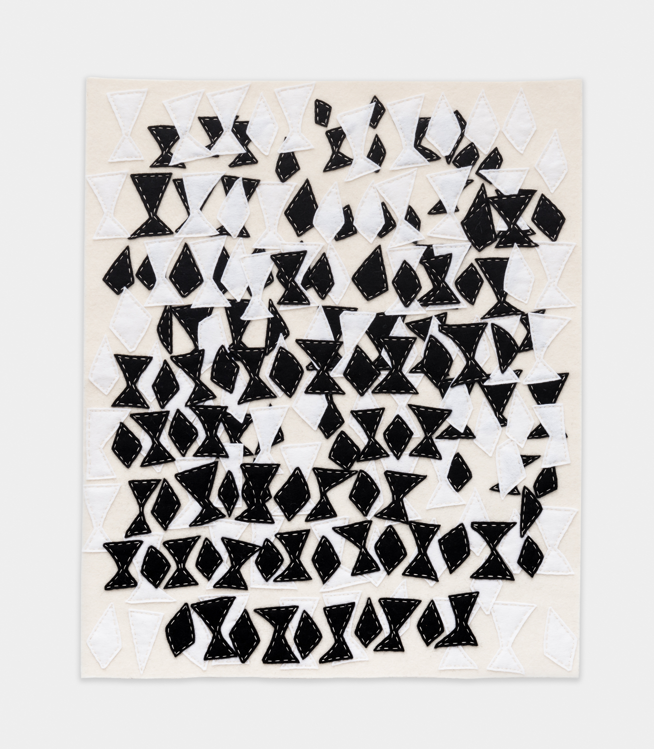 William J. O'Brien  Untitled  2015 Felt on felt 24h x 20w in WOB1023