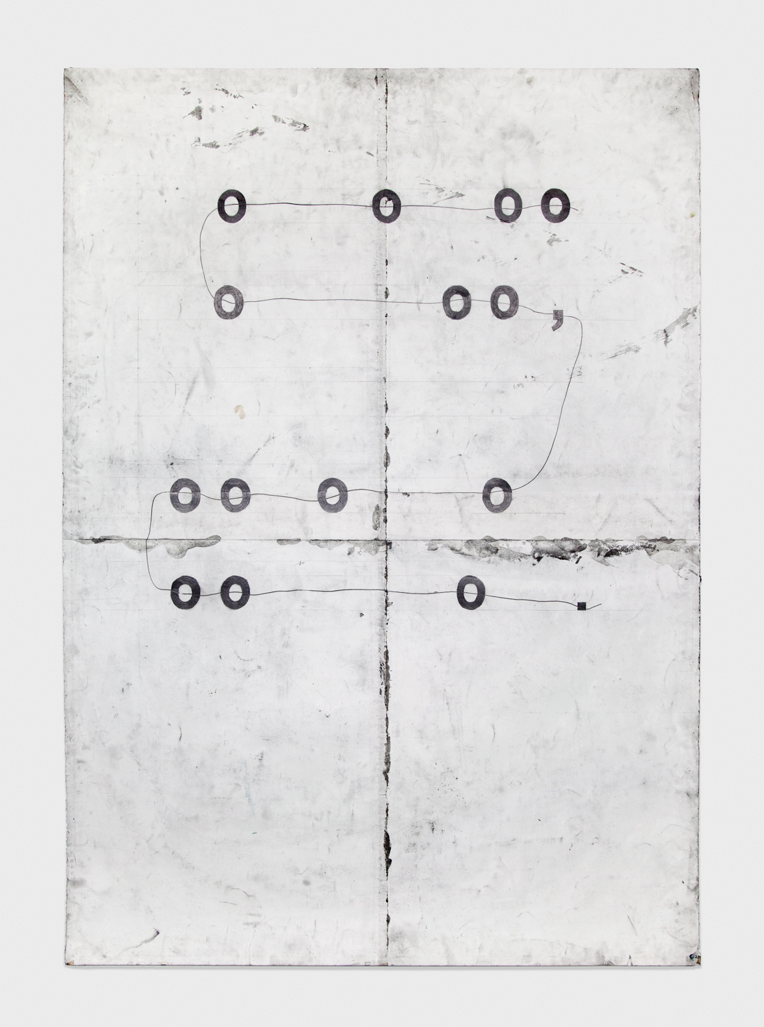 Tony Lewis  ooooooo, ooooooo.  2011 Pencil and graphite powder on paper 84h x 60w in TL013