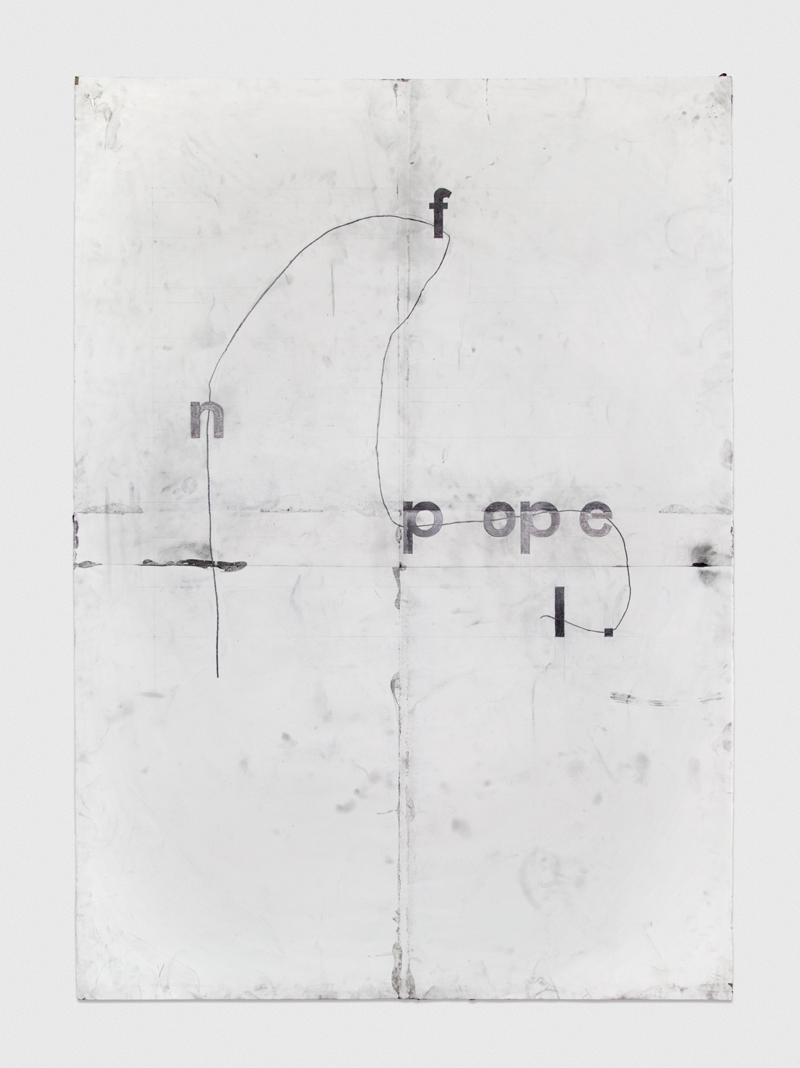 Tony Lewis  f n pope.l   2012 Pencil and graphite powder on paper 84h x 60w in TL008
