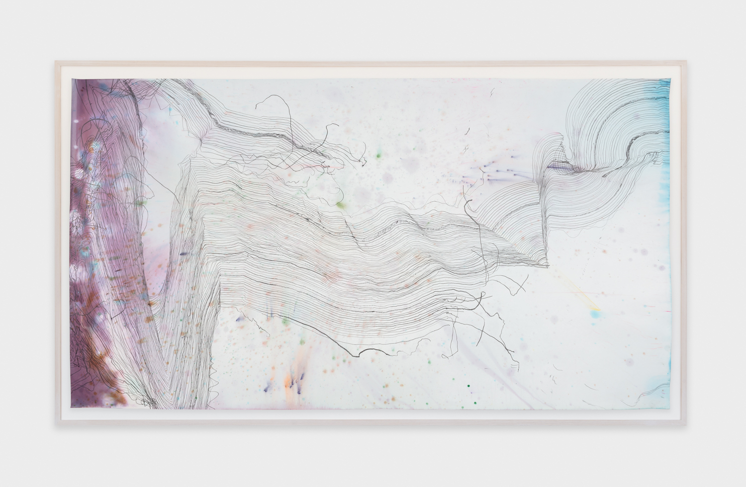 Jay Heikes  Music for Minor Planets (Georgiou)  2015 Pencil and dye on paper 44h x 80w in JH040