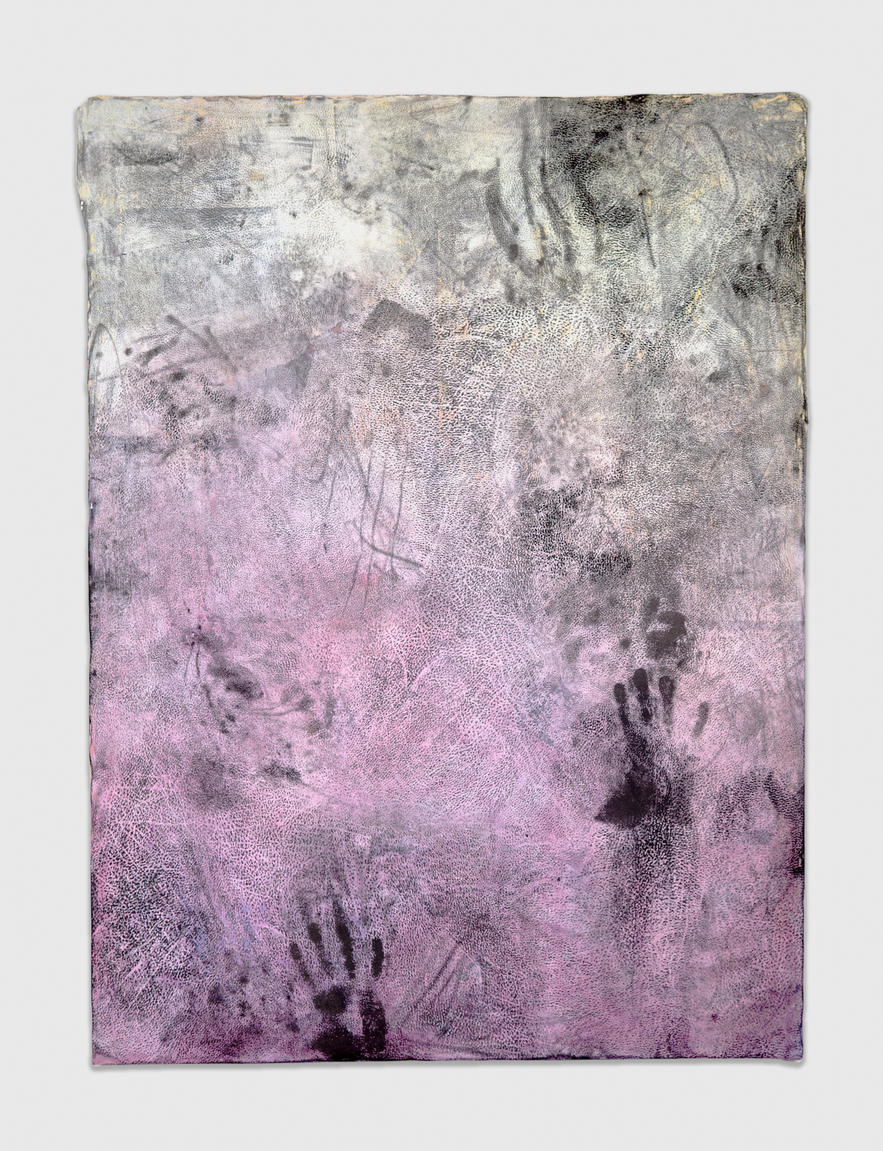 Jay Heikes  Endless  2011 Paper, aluminum, dry pigment, ink, and wood 48 ½h x 36 ½w in JH036