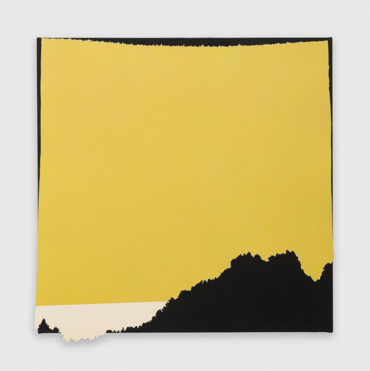 Kim Fisher  Magazine Painting (Curry)  2015 Oil and aluminum on dyed linen 39h x 38w in KF018