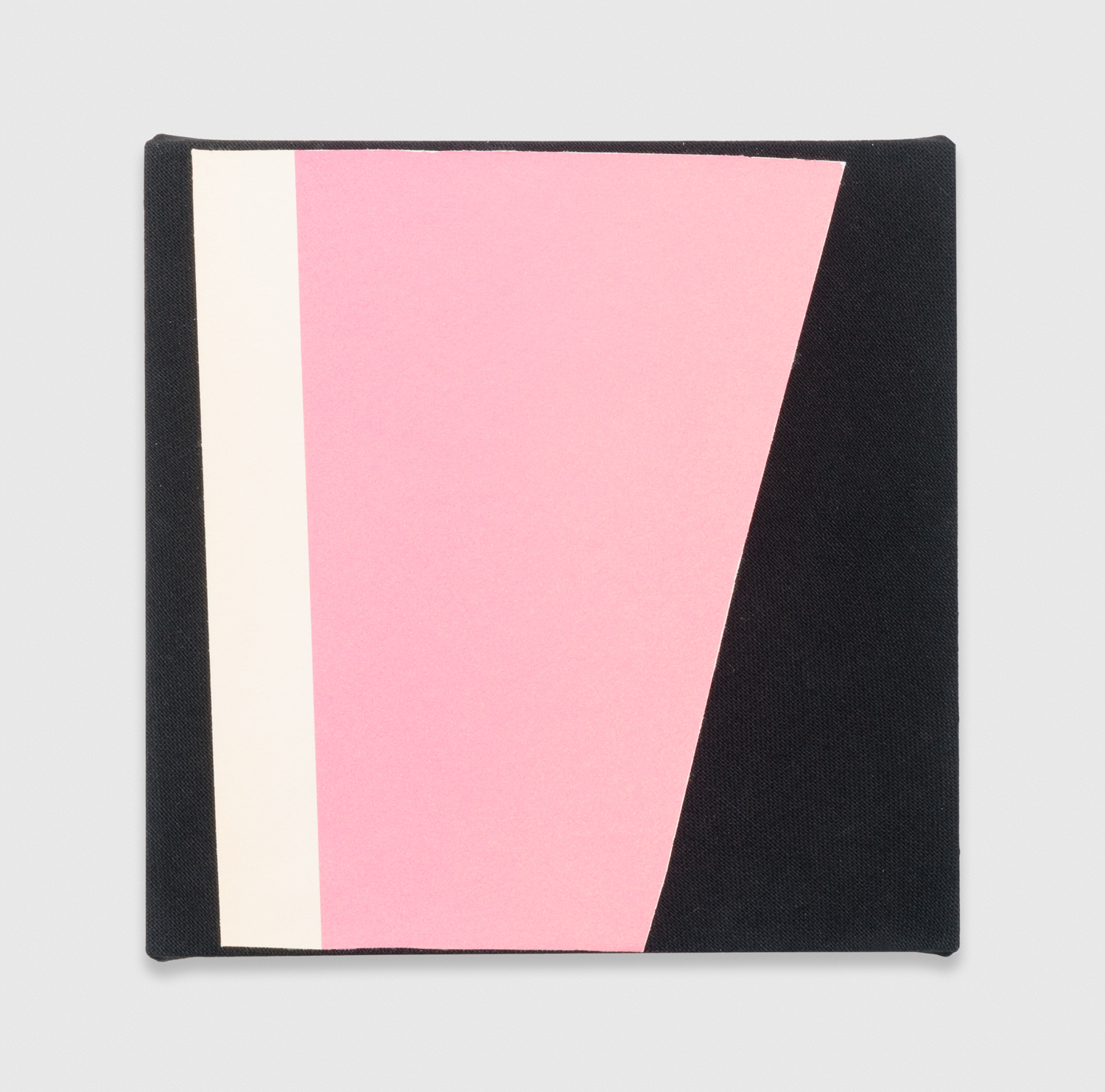 Kim Fisher  Magazine Painting (Rose Pink)  2016 Oil and dyed linen 14h x 14w in KF024