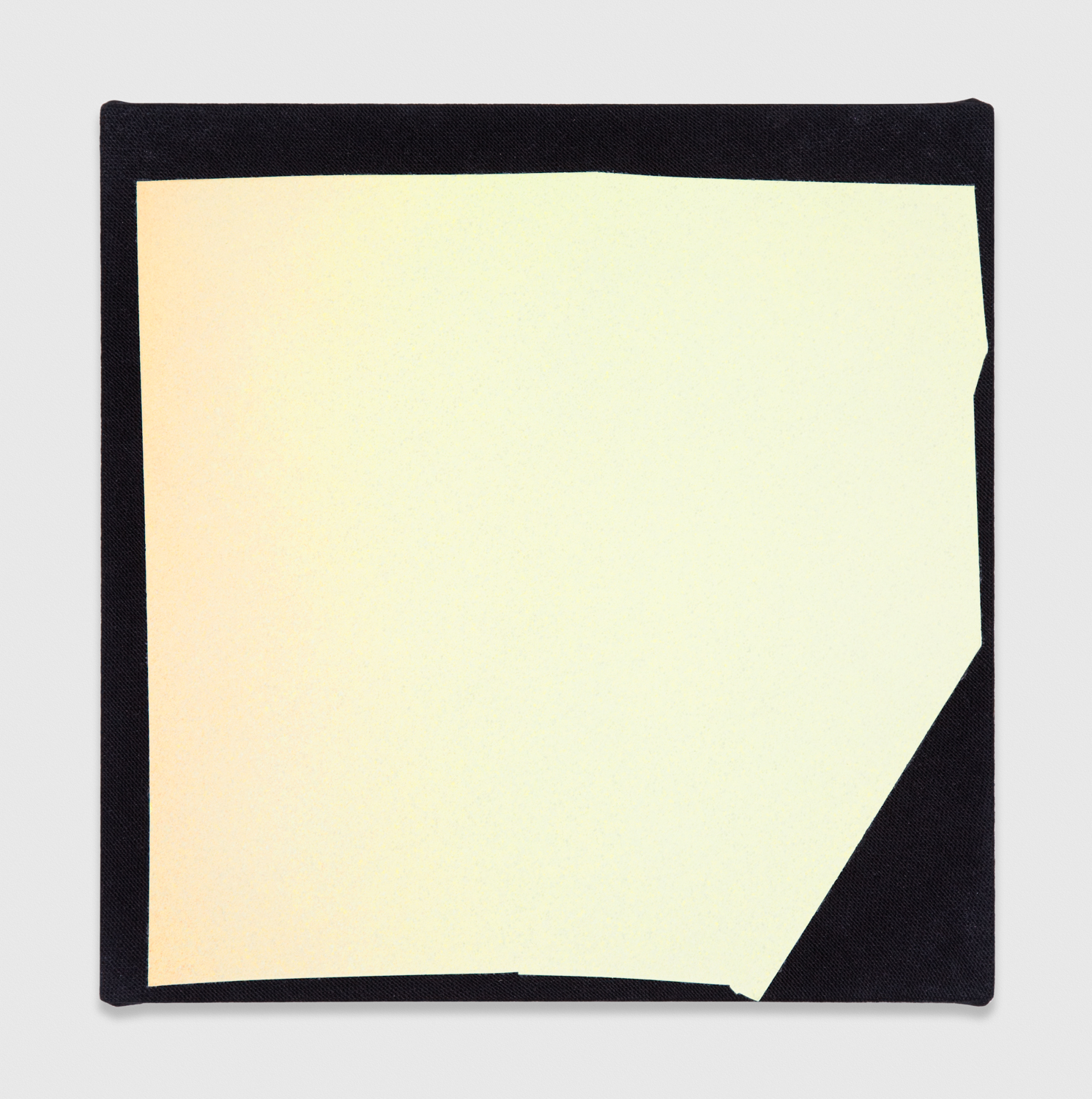 Kim Fisher  Magazine Painting (Washed Out Chartreuse)  2012 Oil on dyed linen 14h x 14w in KF009