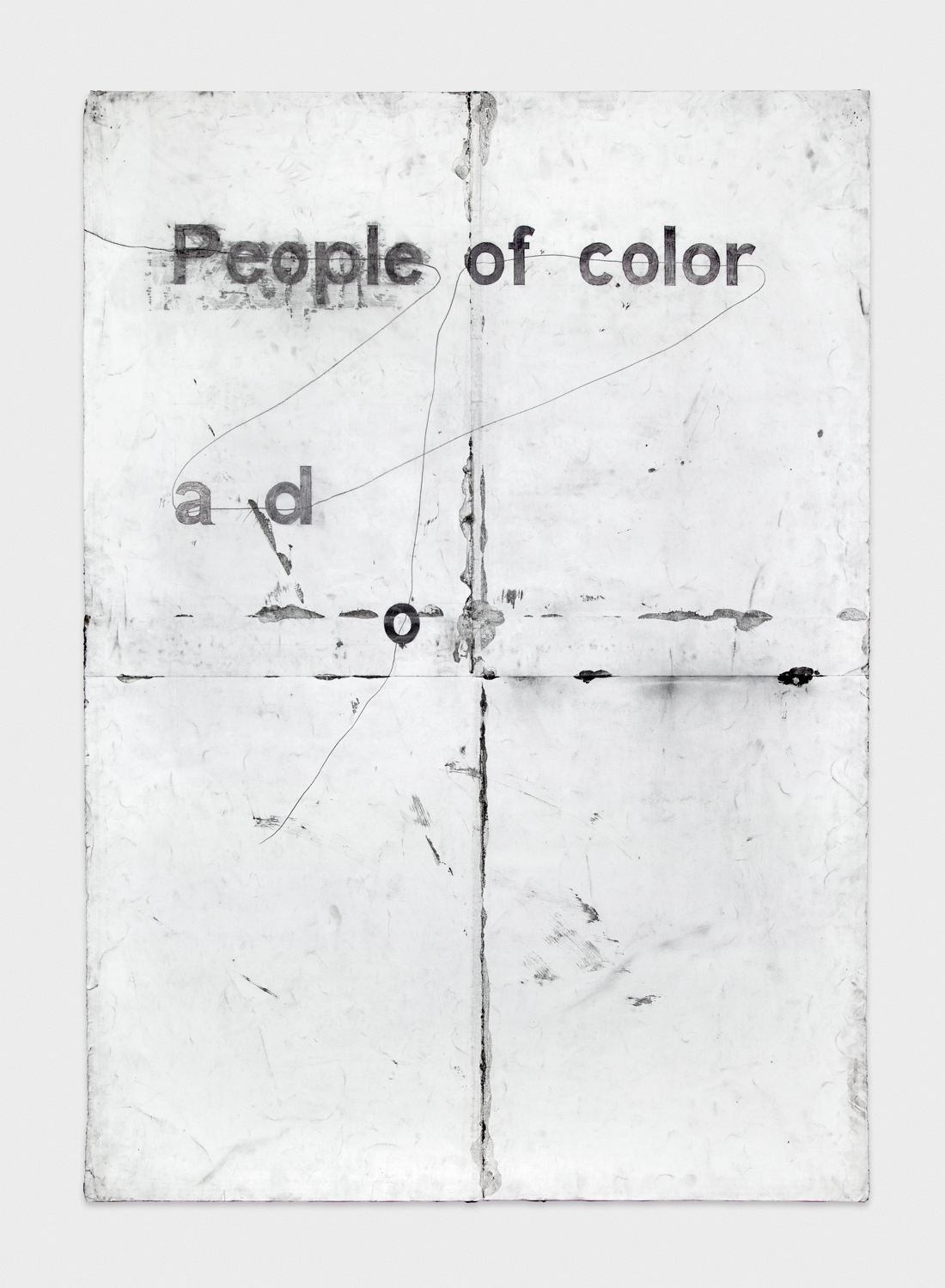 Tony Lewis  People ad roloc foo   2012 Pencil and graphite powder on paper 84h x 60w in TL004