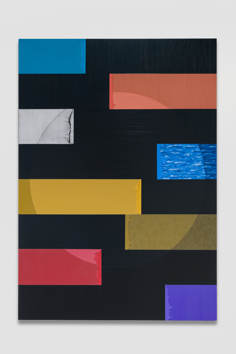 AlexOlson Sightlines (Large) 2018 Oil and modeling paste on canvas 71h x 50w in AO245