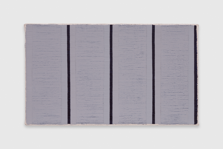 YuiYaegashi  white-gray-black No.2  2018 Oil on canvas 6 1/2h x 10 3/4w in YY126