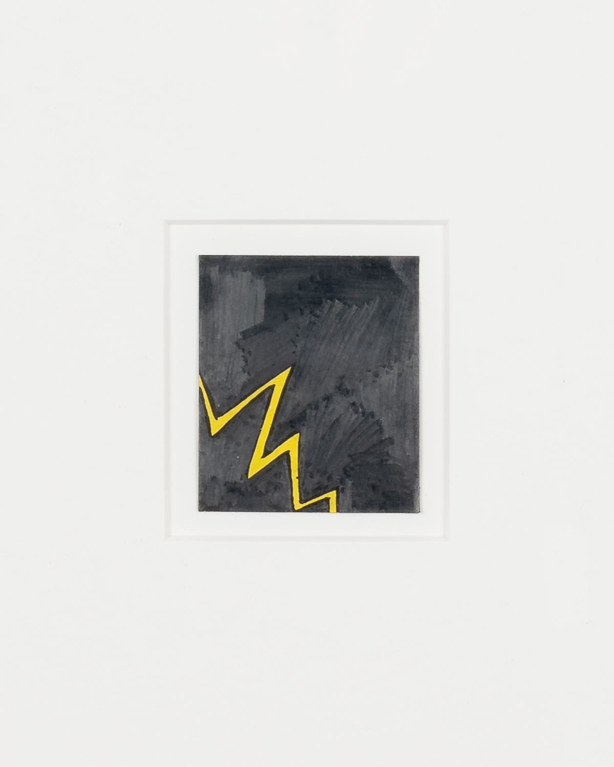Tony Lewis  Untitled (Lightning Bolt) , (Detail) 2017 Pencil, graphite powder and correction fluid on comic book cutout 2 1/4h x 2w in TL486