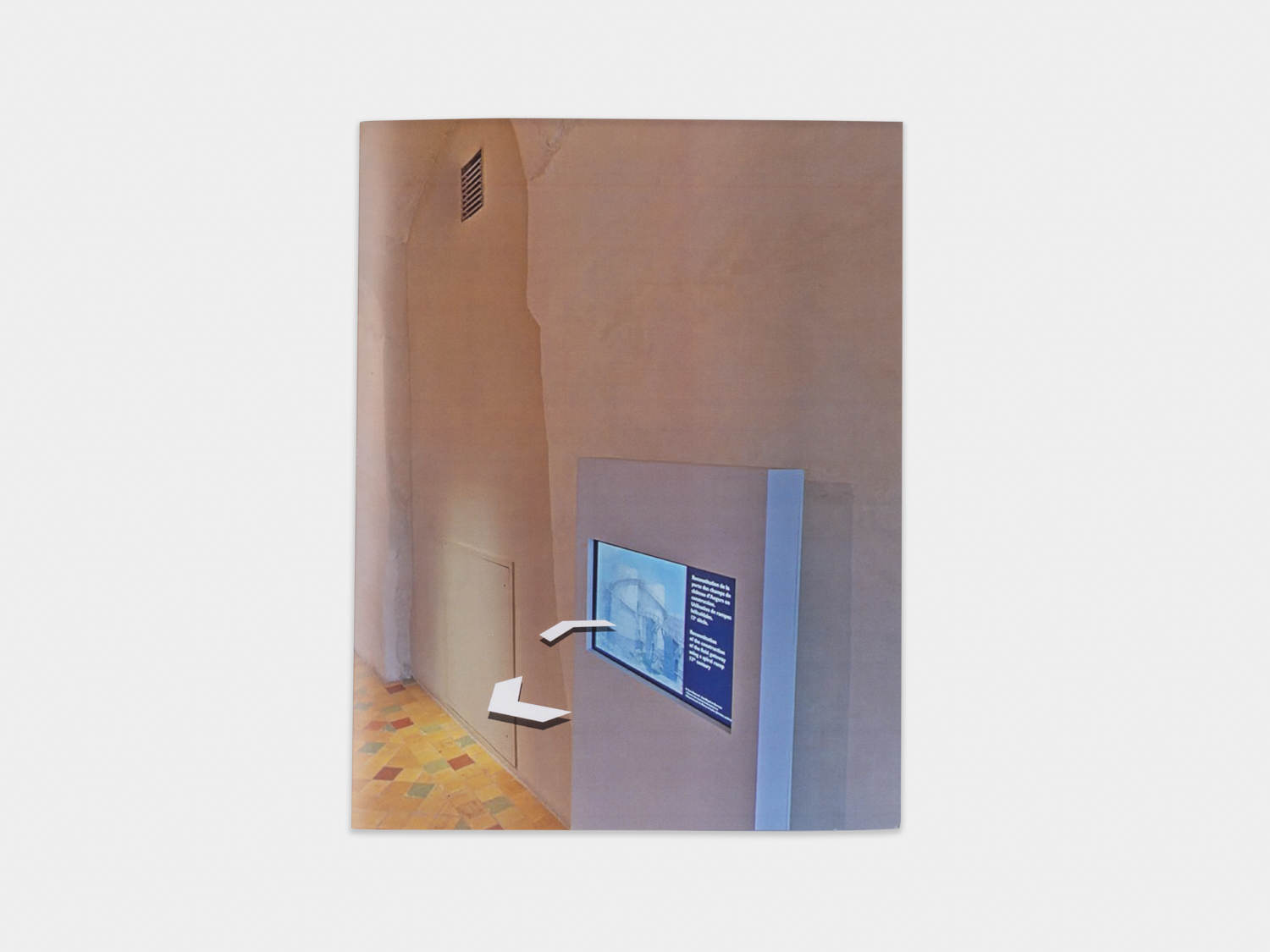 LeRoy Stevens  Château d'Angers Parking  2019 Digitally printed folio, electronics 11h x 8 1/2w in LSte004