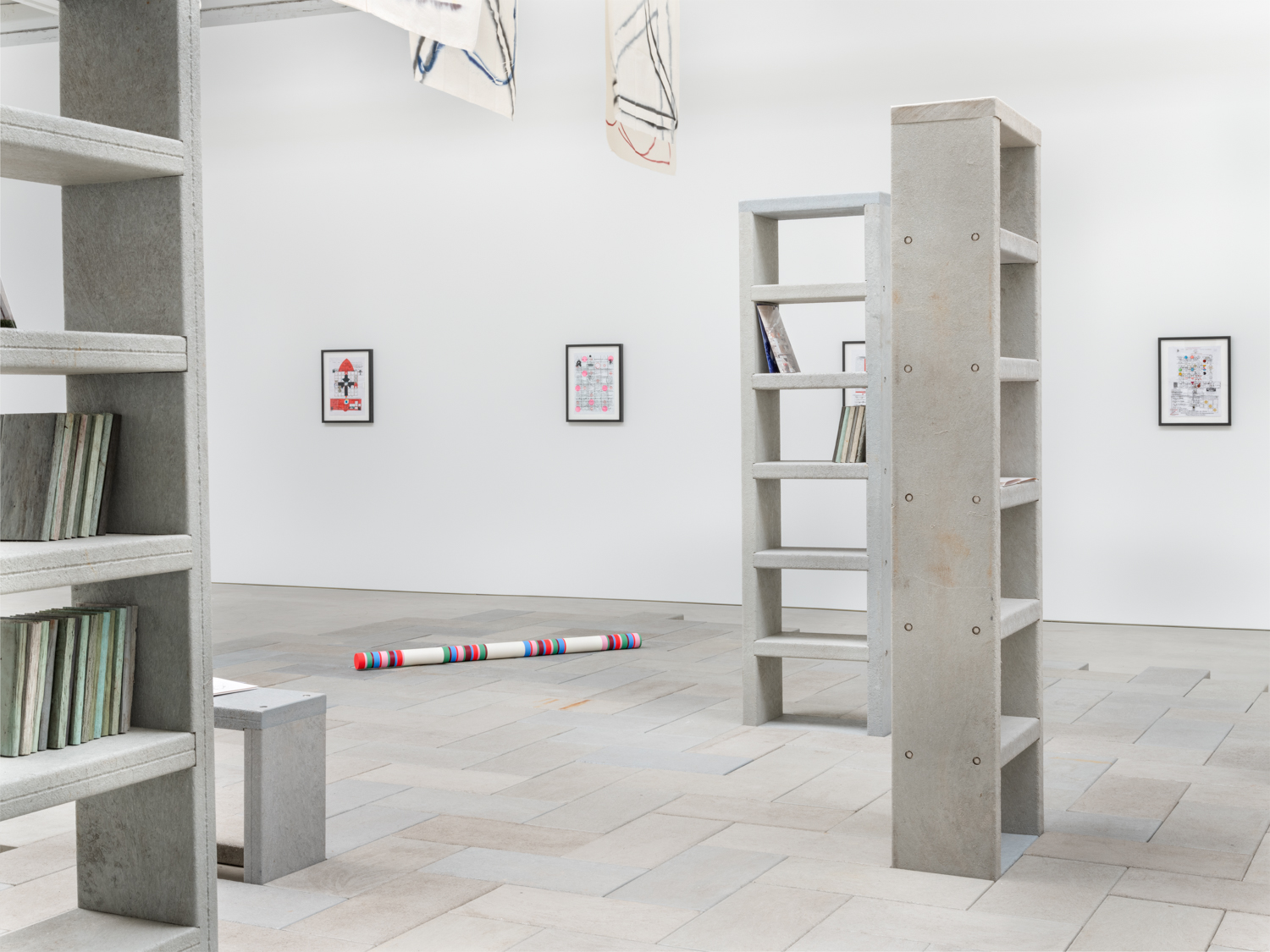 FMSBWTÖZÄU       PGGIV-..?MÜ       (FOR STEPHEN FOSTER) 2019 Installation view Shane Campbell Gallery