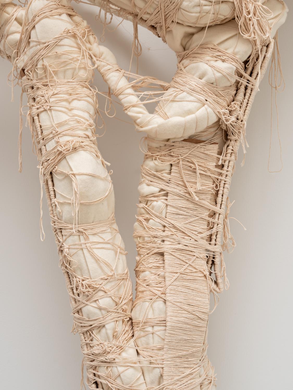 William J. O'Brien  Untitled (Torch Bouquet)  (Detail) 2019 Cotton twine, felt, powder coated steel 119 1/2h x 47 1/4w x 16 1/2d in WOB1274