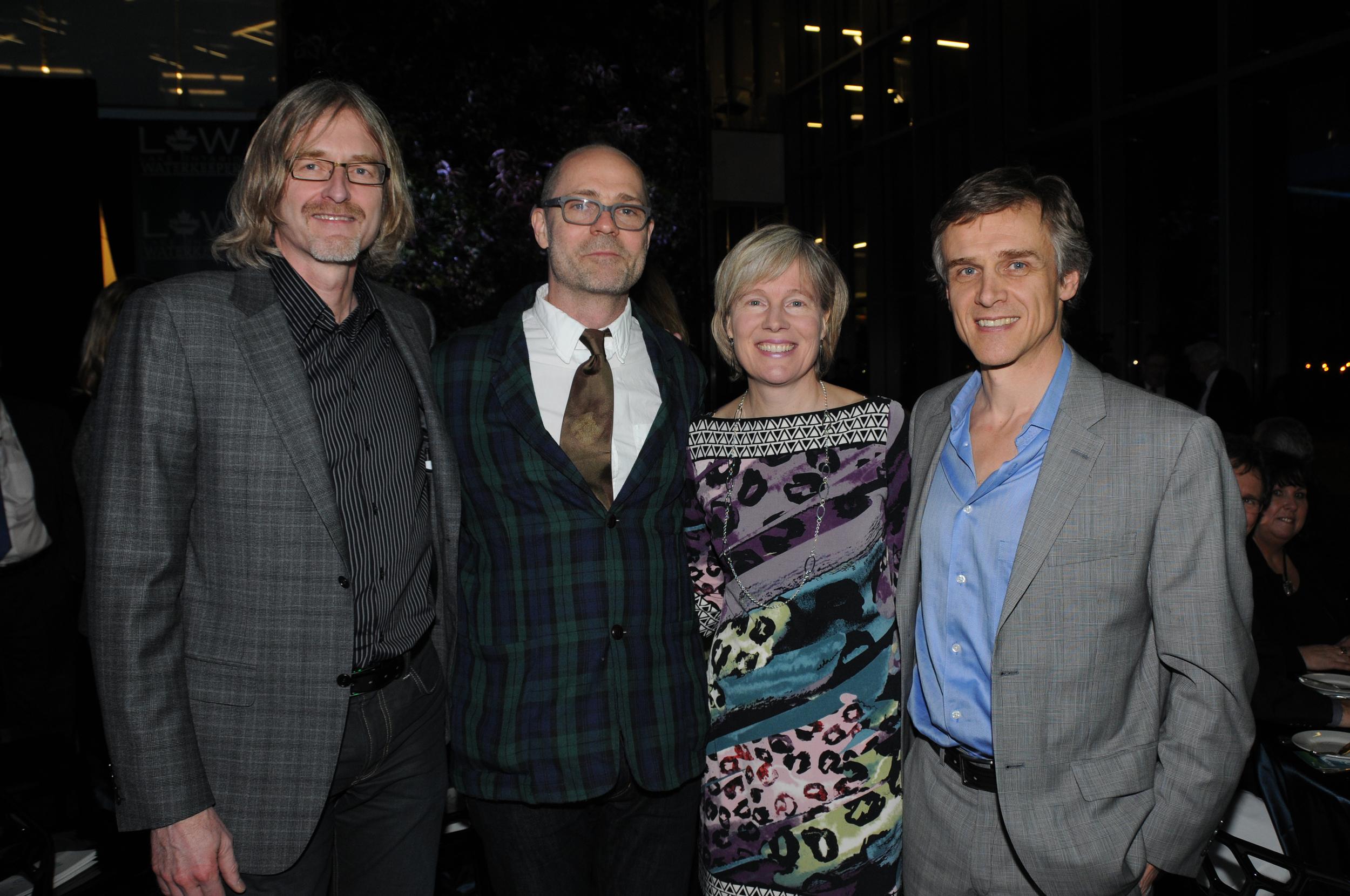 From left to right: Greg Kiessling, Gord Downie, Pam Isaak, and Tom Heintzman.