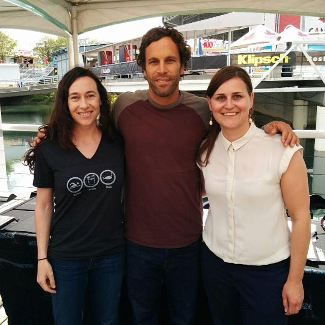 Waterkeeper staff and volunteer with Jack Johnson at his concert in May 2014.