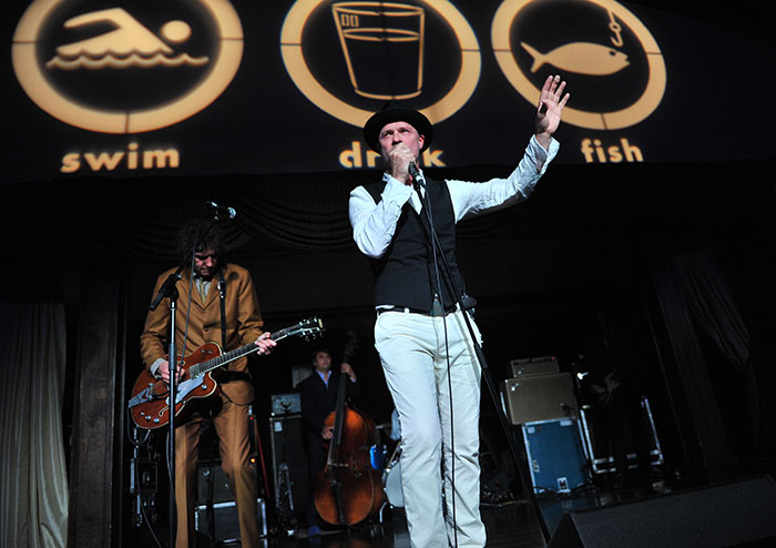 Gord Downie and the Sadies rocking it out at 2014's Waterkeeper Gala.