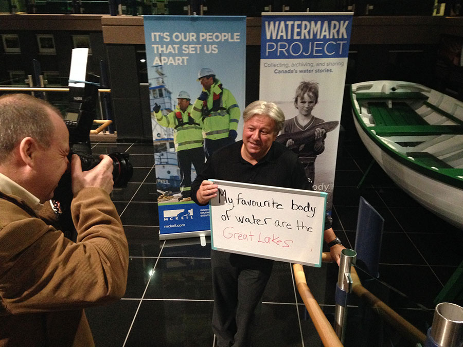 McKeil Marine's CEO, Blair McKeil sharing his watermark. (Photo: Lake Ontario Waterkeeper)