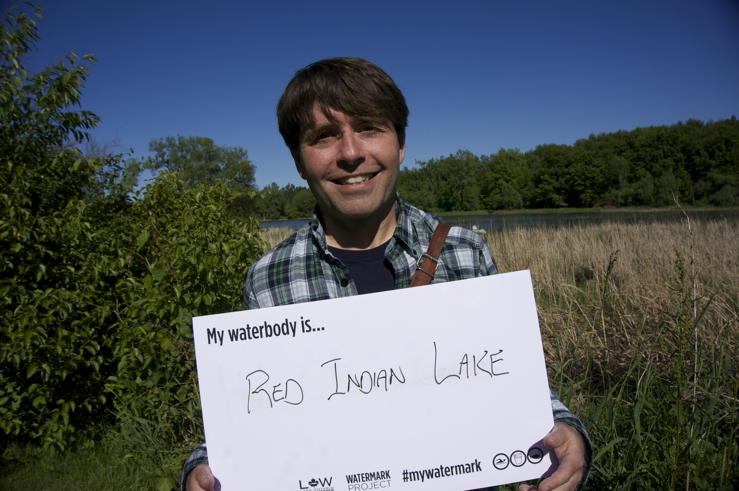 Michael Crummey shares his watermark at LitFest. (Photo by Lake Ontario Waterkeeper)