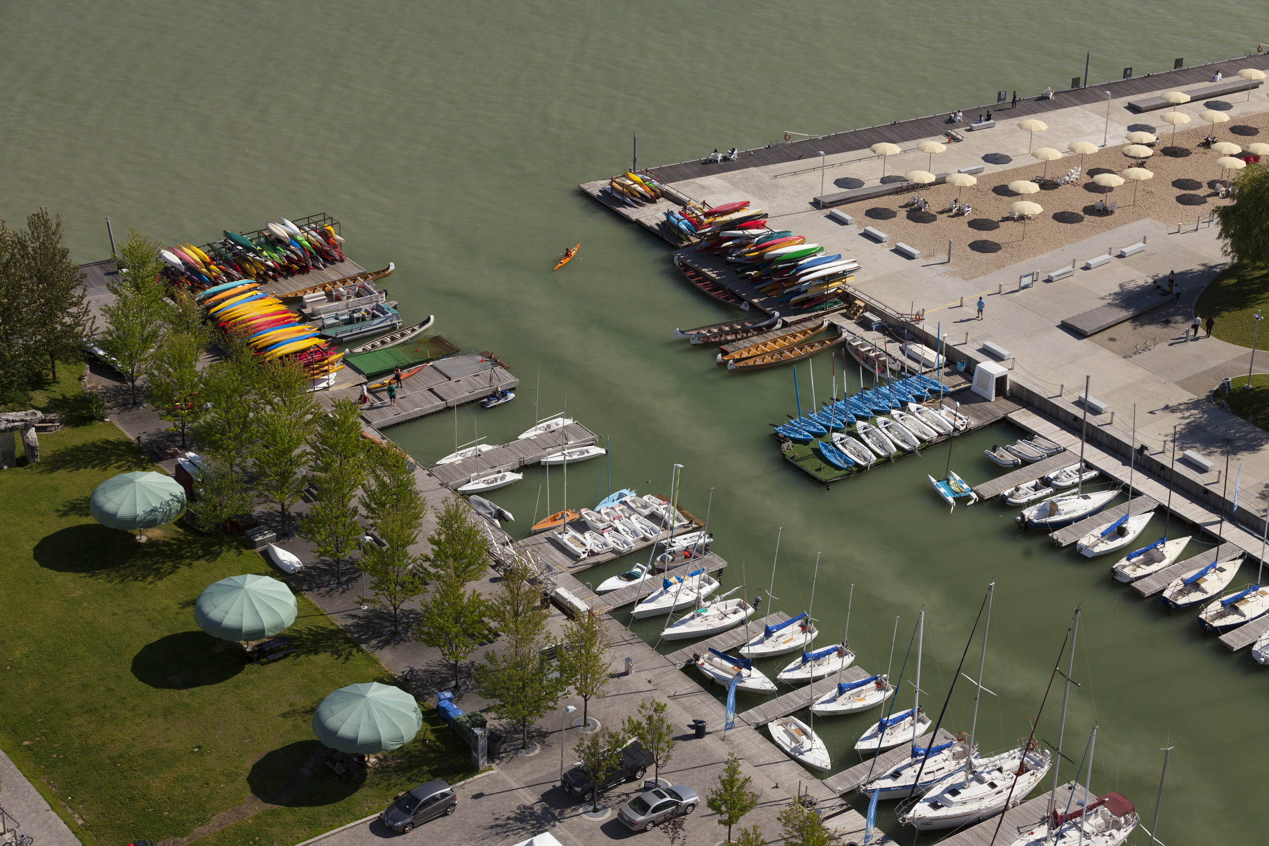 A combined sewer overflow (CSO) empties into the Toronto Harbour at Rees Street. Photo by Jim Panos.
