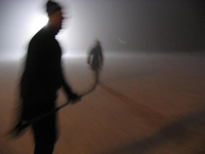Late-night skate on Lake Ontario. (Photo by Paul Steenhuisen)