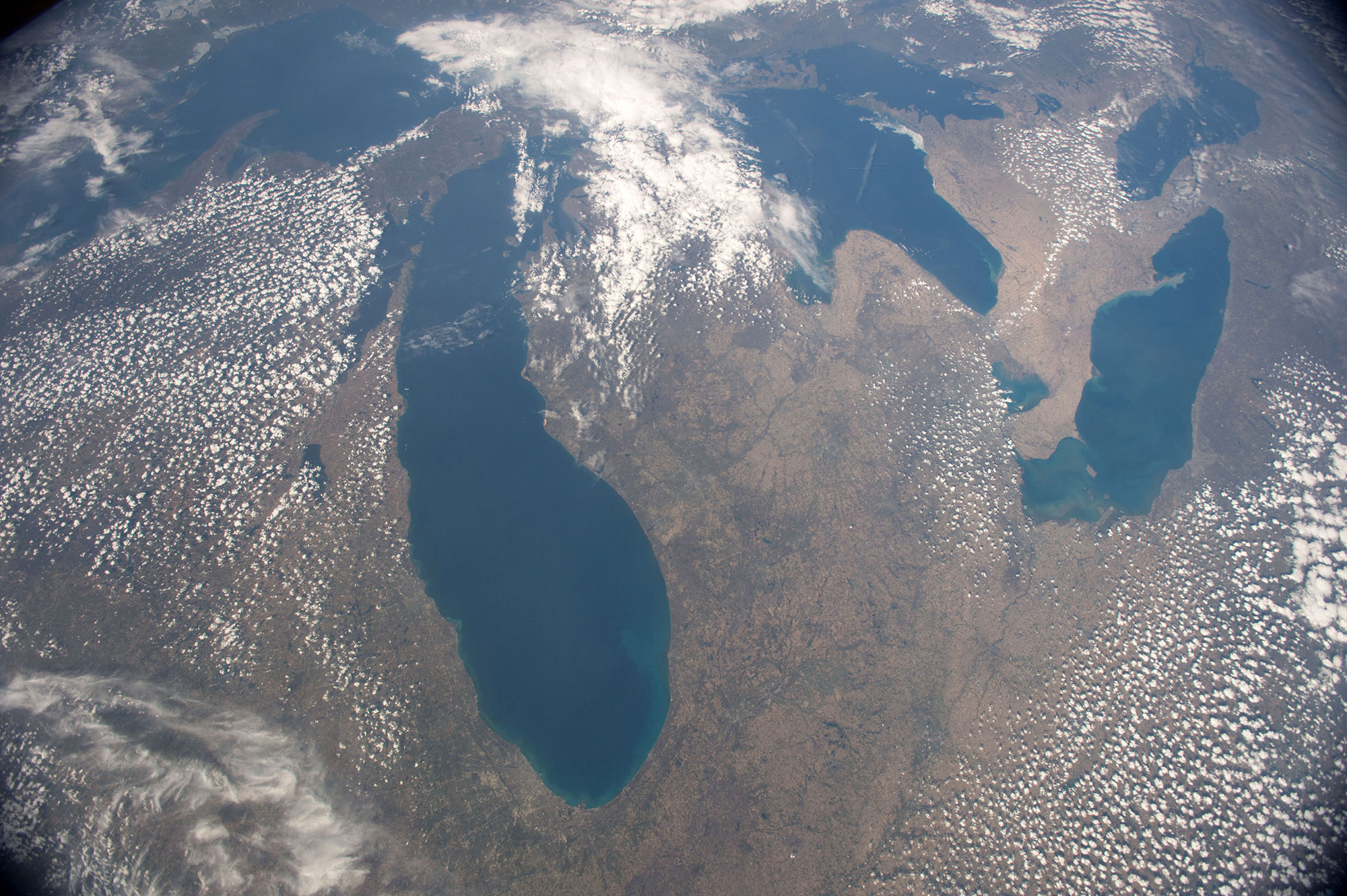 The Great Lakes as seen on the International Space Station on May 2, 2015. (Image by  NASA/Terry Virts )