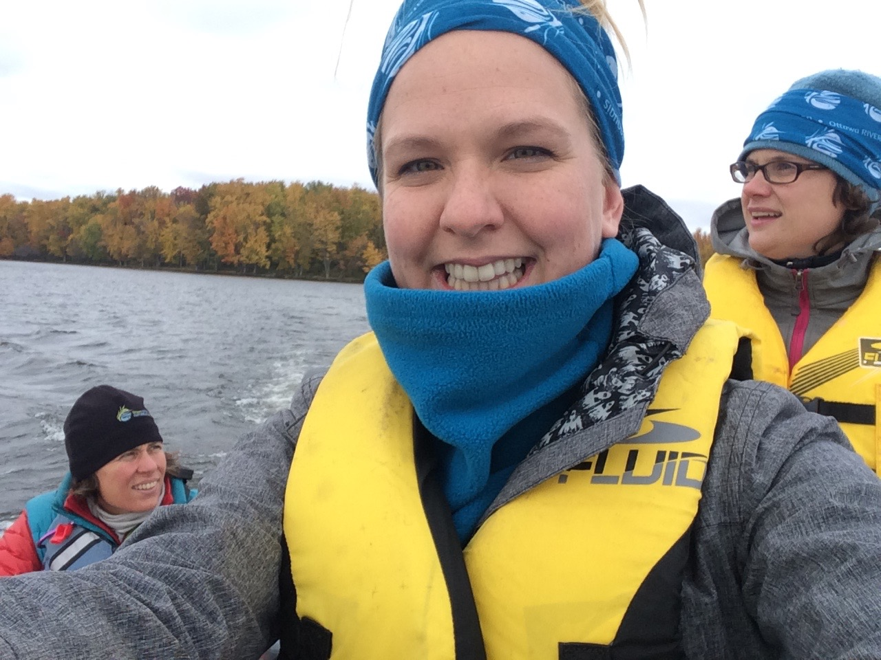 Water Rangers' creator and Executive Director, Kat Kavanagh with Ottawa Riverkeeper's Meredith Brown (left) and Meaghan Murphy. (Photo by Kat Kavanagh)
