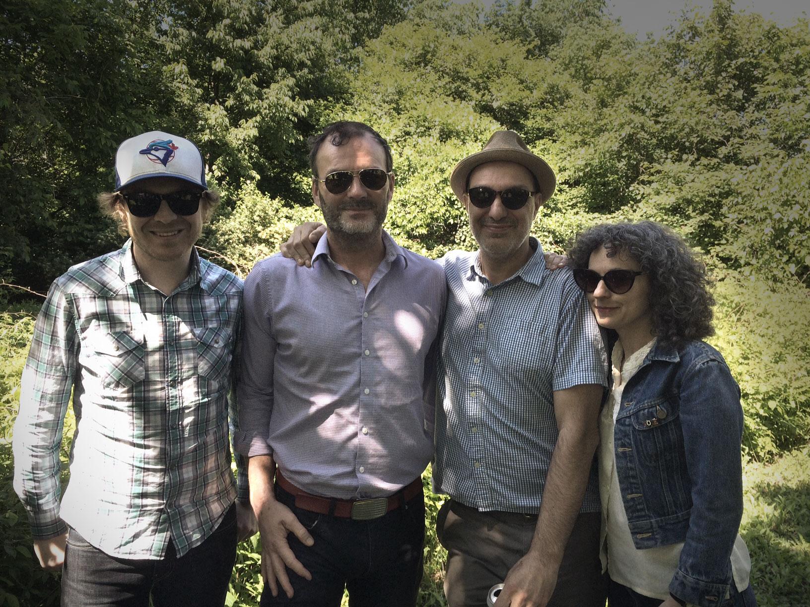 Left to right: Mark Medley, Mark Mattson, Dave Bidini, and Janet Morassutti at last year's Litfest. (Photo via Lake Ontario Waterkeeper)