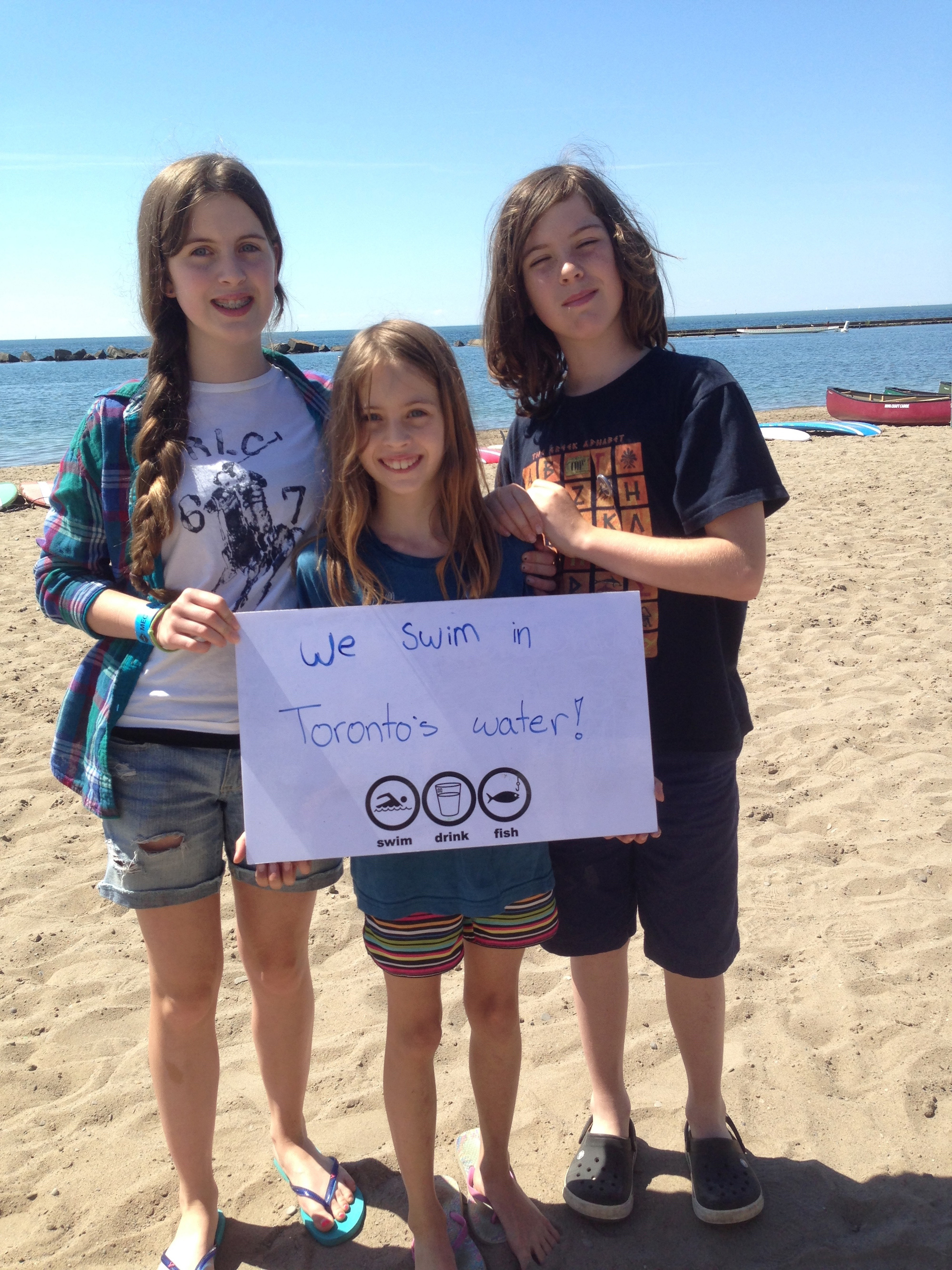 Waterkeeper's new Indiegogo campaign,  Swimmable Lake Ontario  aims to help ensure Torontonians are swimming in what is considered swimmable water. (Photo via Lake Ontario Waterkeeper)