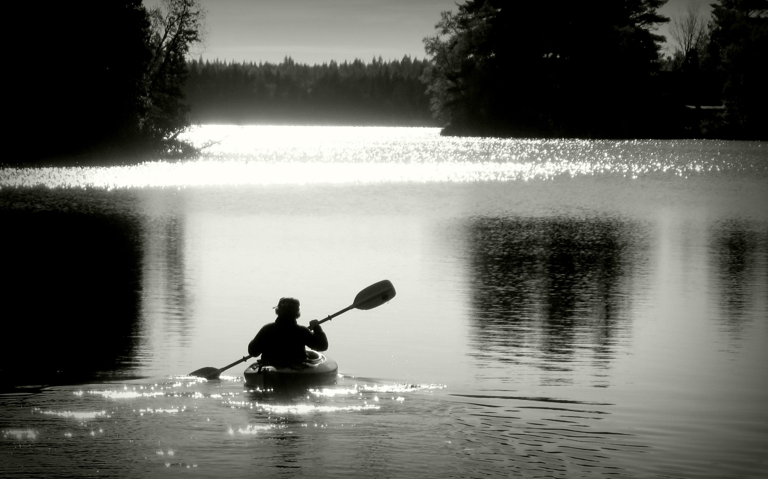 Morning paddle on Bass Lake, Ontario. (Photo by  Ann Fisher )