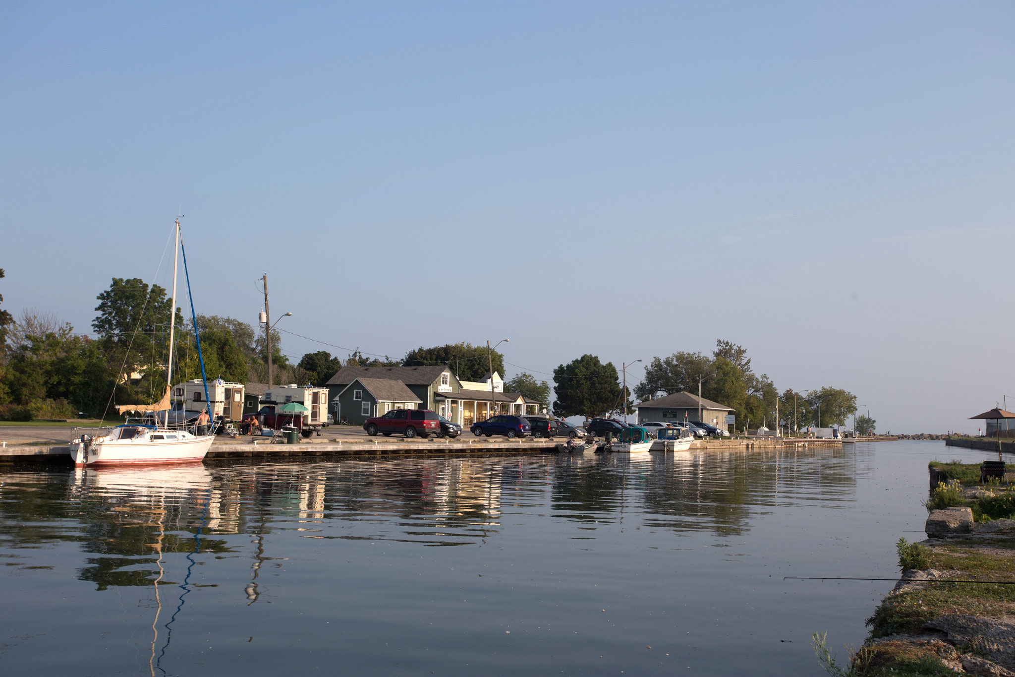 A fishing site in the Port Hope's Cameco area. (Photo by Dylan Neild)