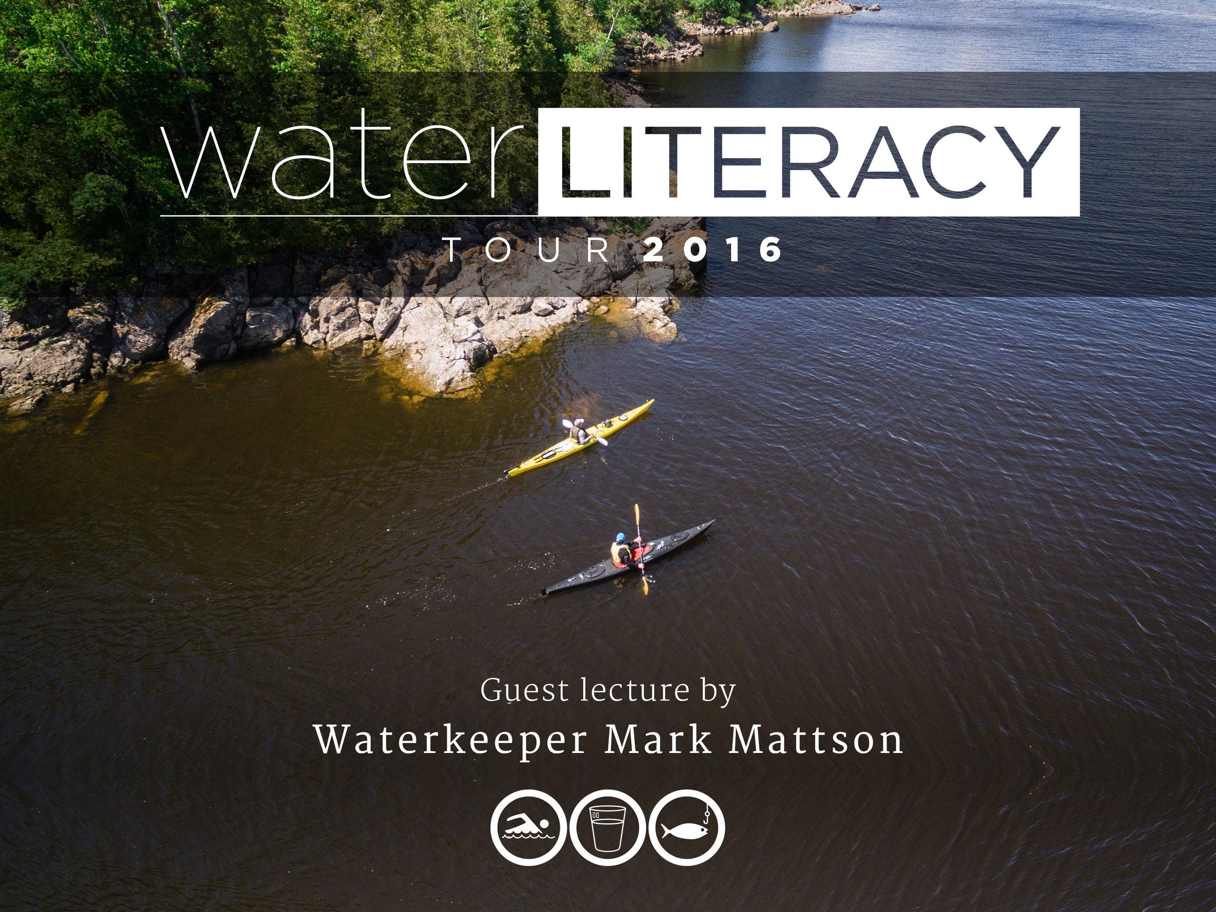 Waterkeeper Mark Mattson and Joseph Boyden paddling along the Kennebecasis River. (Photo by Dylan Neild)