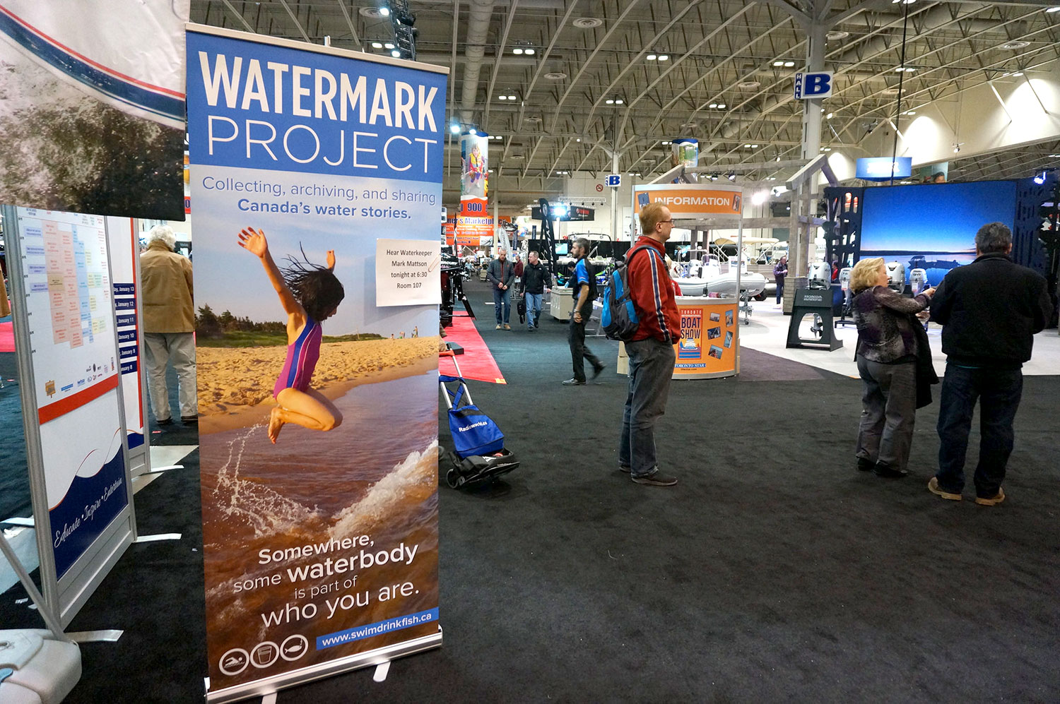 A shot of the 2016 Toronto International Boat Show. (Photo by Lake Ontario Waterkeeper)