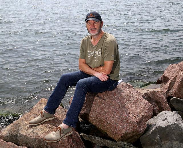 Mark Mattson, president of Lake Ontario Waterkeeper, at Breakwater Park in Kingston. (Ian MacAlpine/The Whig-Standard)