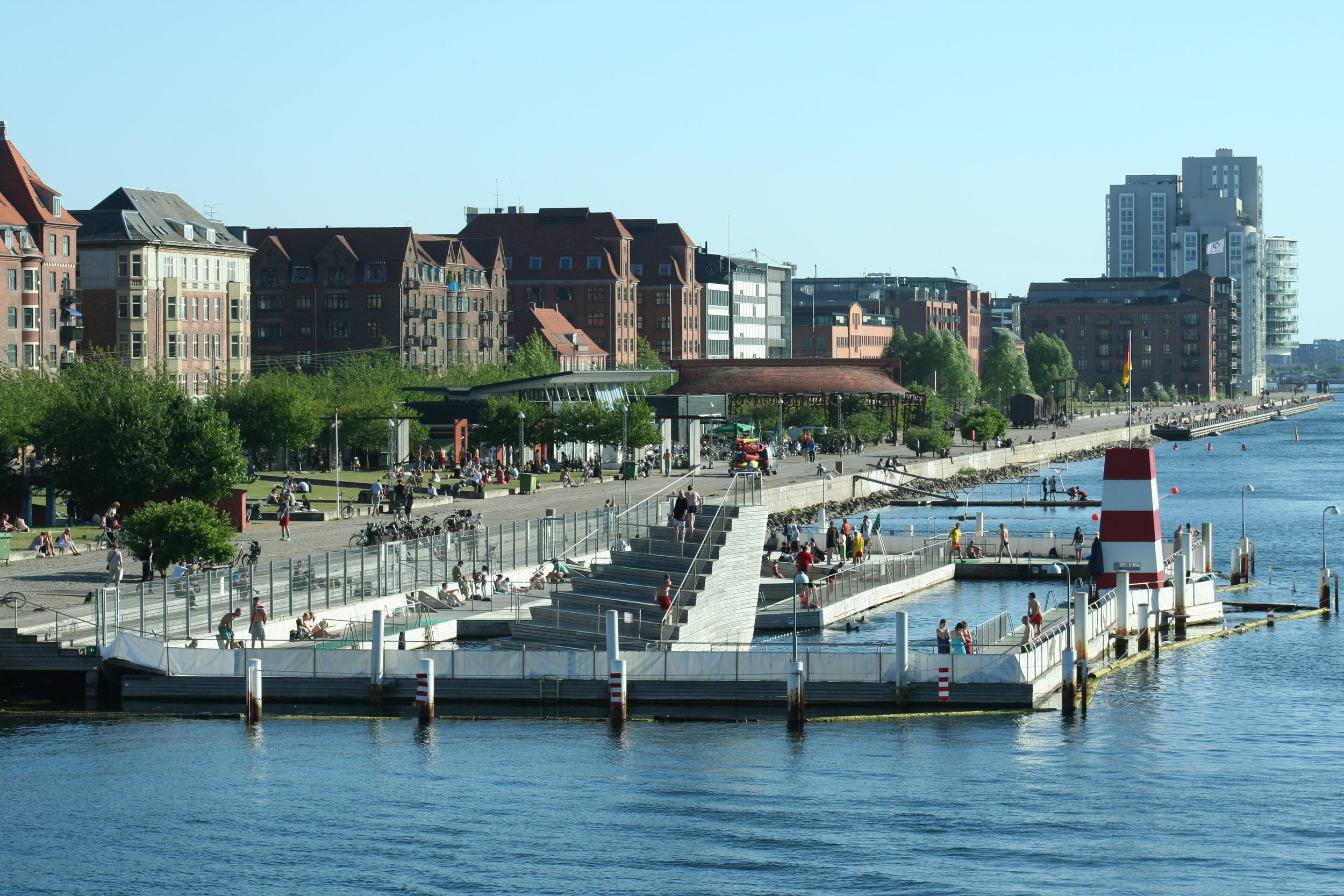 The Copenhagen Harbour Bath in Denmark makes swimming possible for the residents of Copenhagen right in the heart of the city. Photo taken by  Jacob Friis Saxberg .