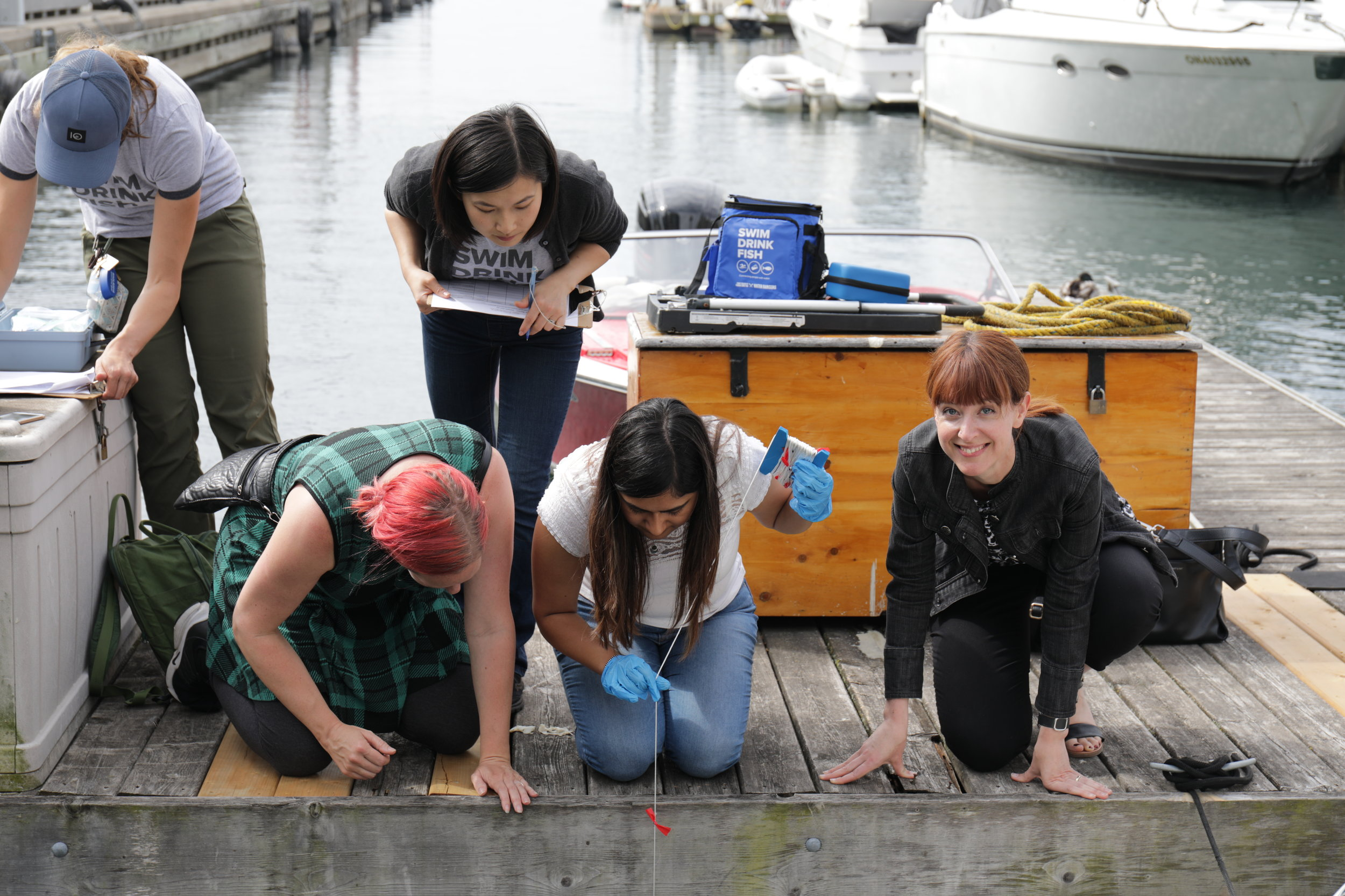 Me, far right. That's the smile of someone who really loves water quality monitoring.