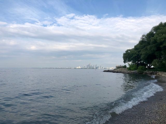The southwest beach of Ontario Place.