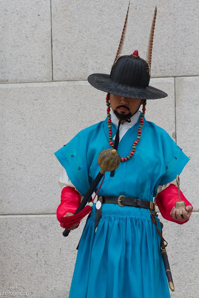 Gwanghwamun Royal Guard  Gyeongbokgung Palace - Seoul, South Korea