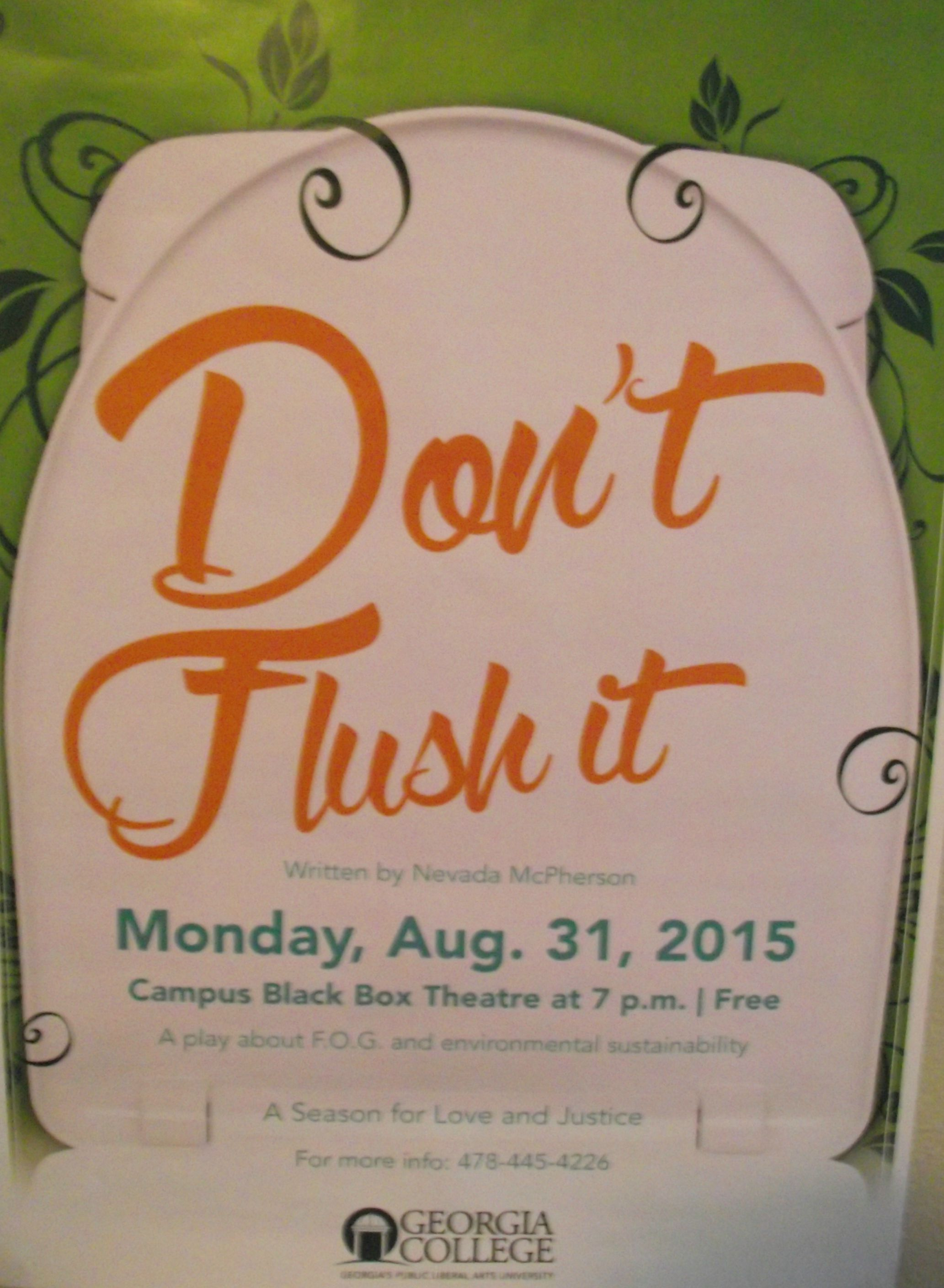 A poster from the first performance.