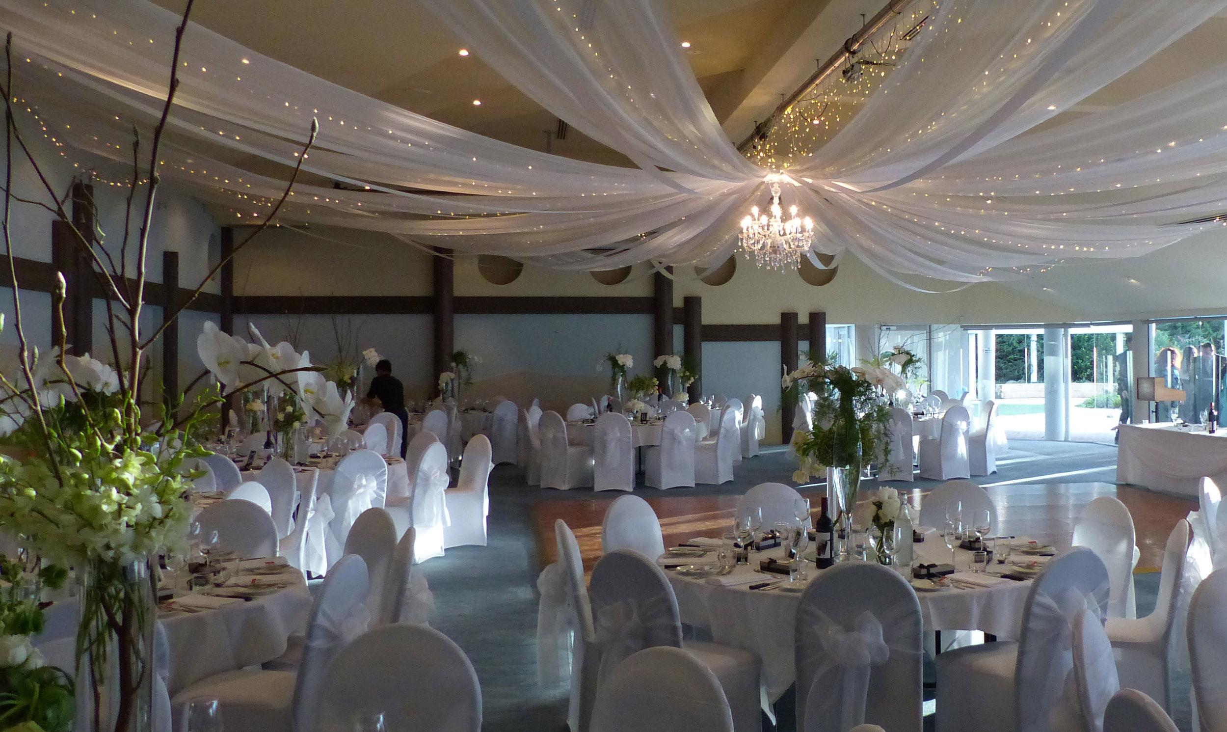 A beautiful classic white wedding.