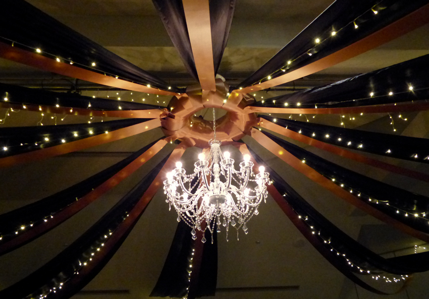 Our new 12 arm chandelier, always in style like a little black dress.