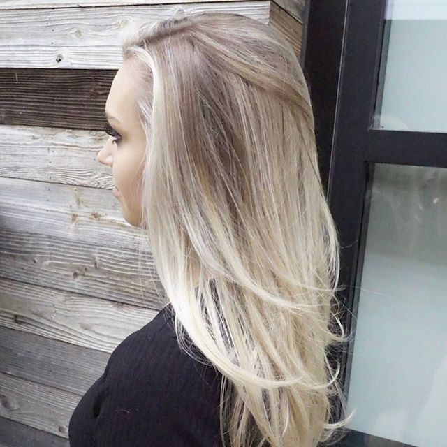 This gal! 💕She's my favorite blonde... Hands down.🤫@jordan.bronkema your hair is a dream! Thank you for letting me play with it. 🤩💖⁠⠀ Check out this dimension and swipe to see her color when she flips her hair! 😮😍⁠⠀ I used ILLUMINA by @wellahair because it's magical. I love this color for it's violet base and incredible reflection. I swear it makes your hair glow. ⁠⠀ •⁠⠀ •⁠⠀ •⁠⠀ #hairbymarissacydya #wellahair #salonrepublic #wellalove #wellacolor #salonrepublicthevillage #dimensionalblonde #naturallivedincolor #brightblonde
