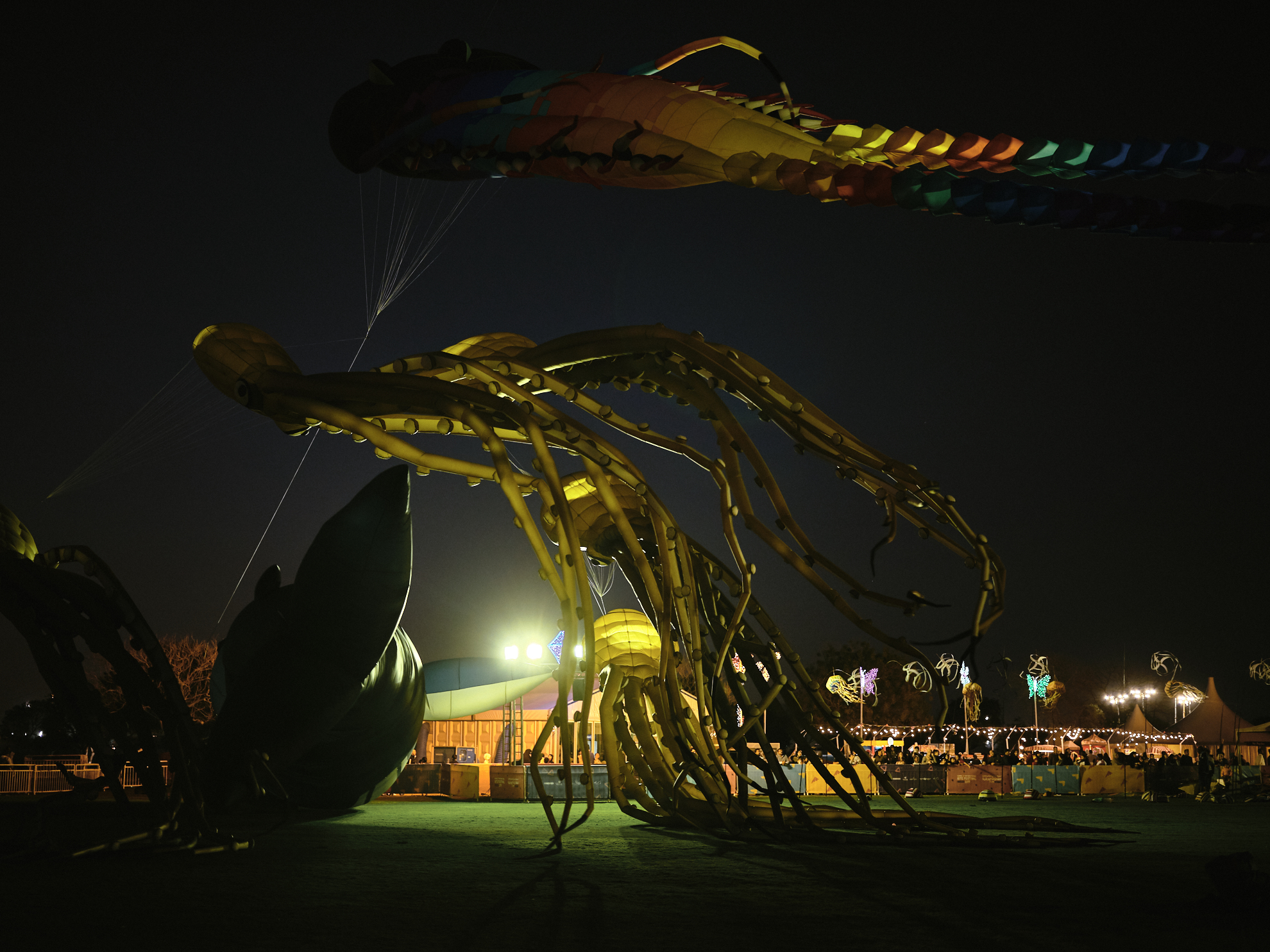 aspire kite festival photography night flying