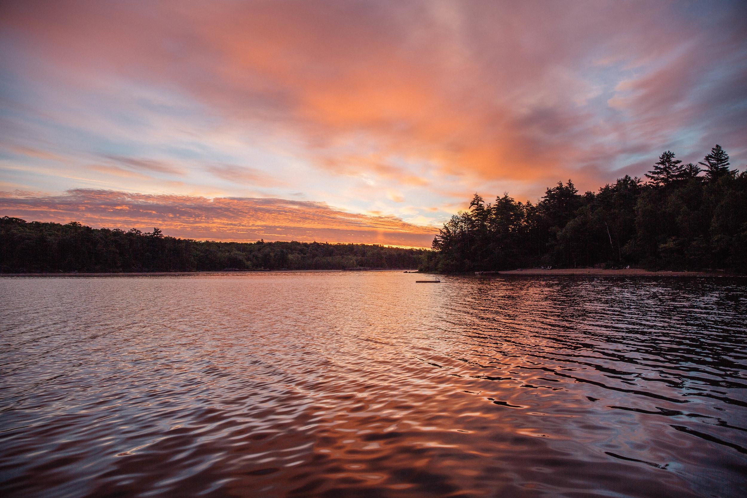 Sunrise over the lake, Canada