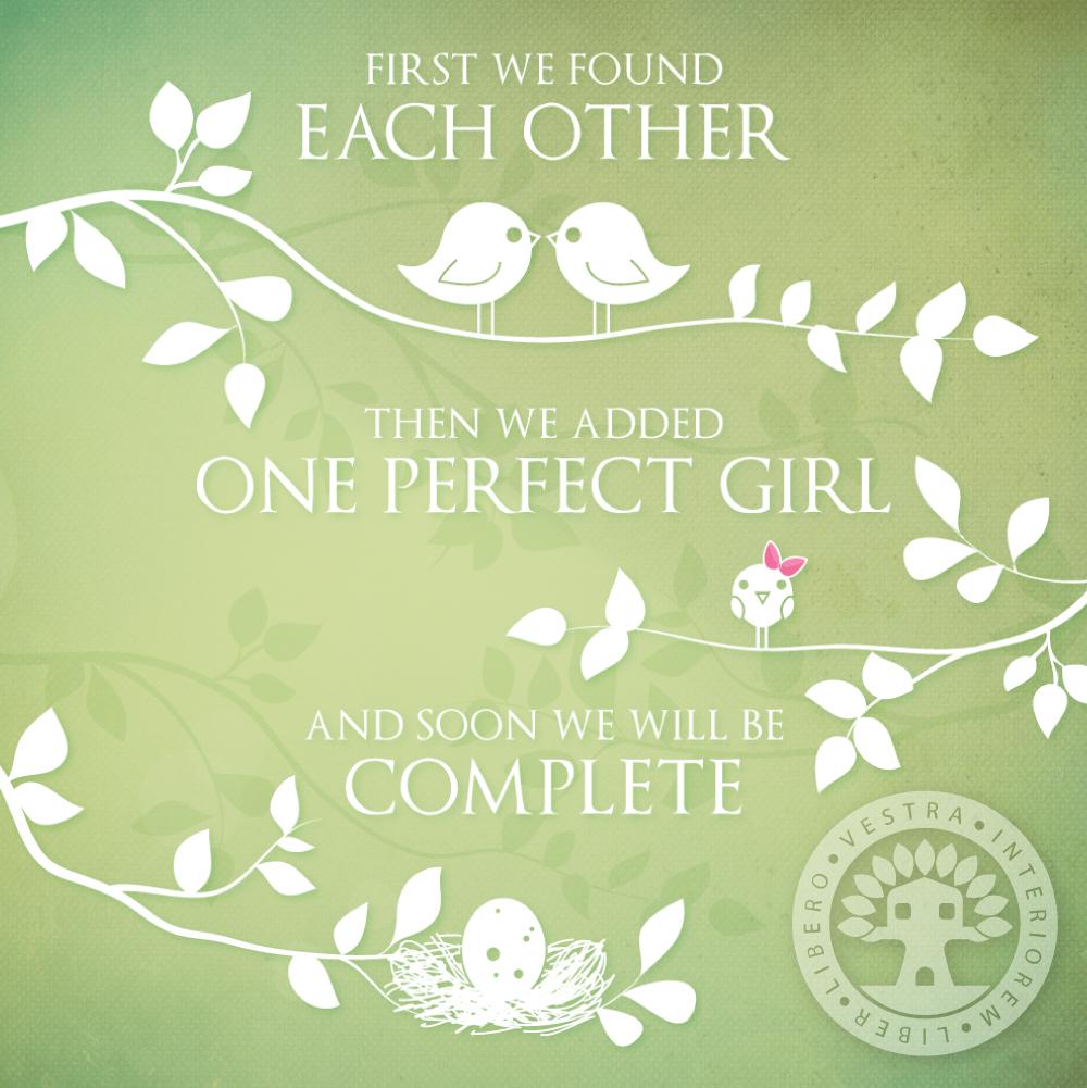 Baby Announcement Design by Corinne Jade