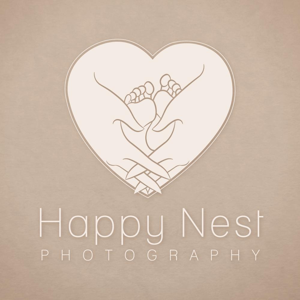 Happy Nest Photography | Logo Design by Corinne Jade