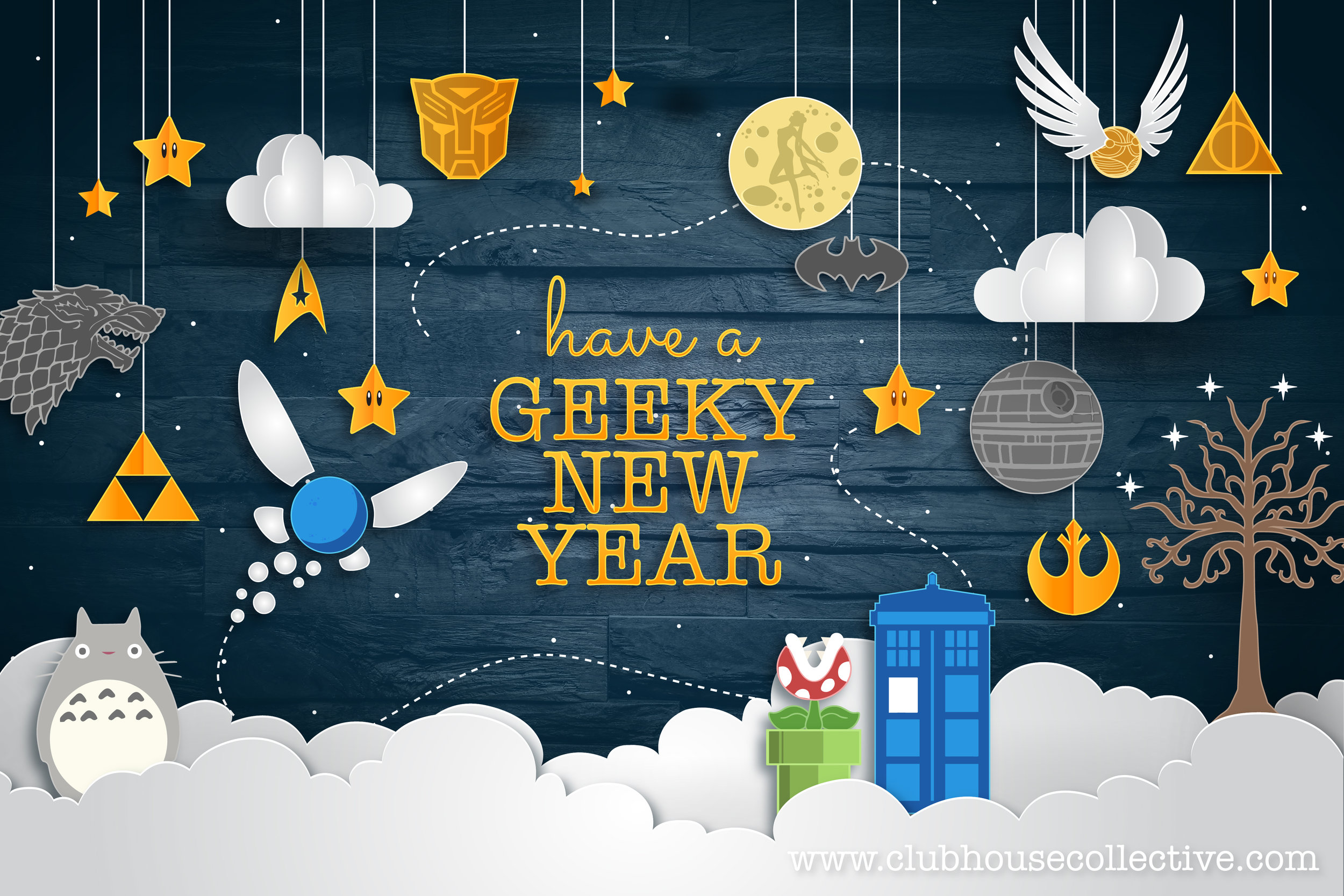 Have a GEEKY NEW YEAR ~ Corinne Jade, ClubHouse Collective
