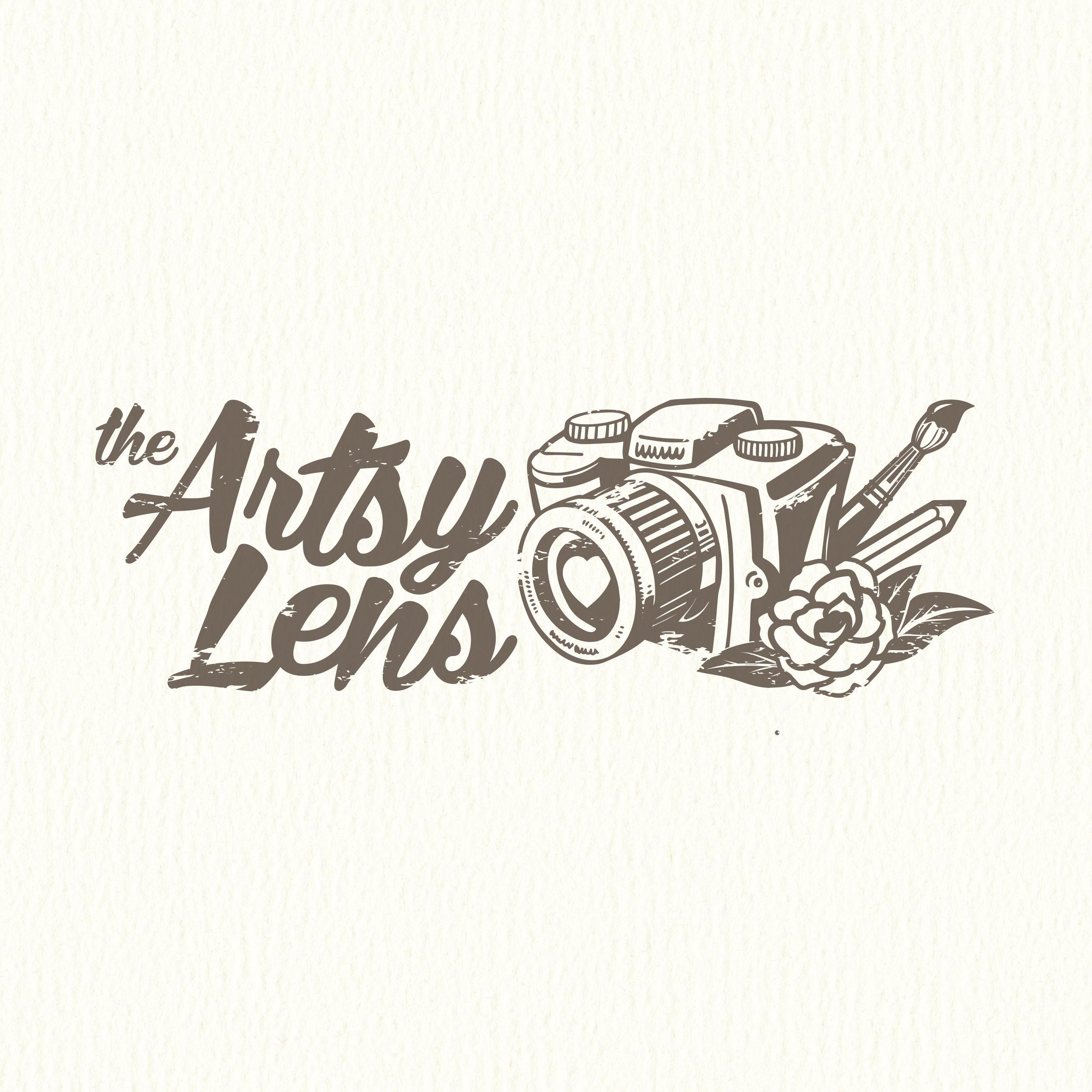 The Artsy Lens | Logo Design by Corinne Jade
