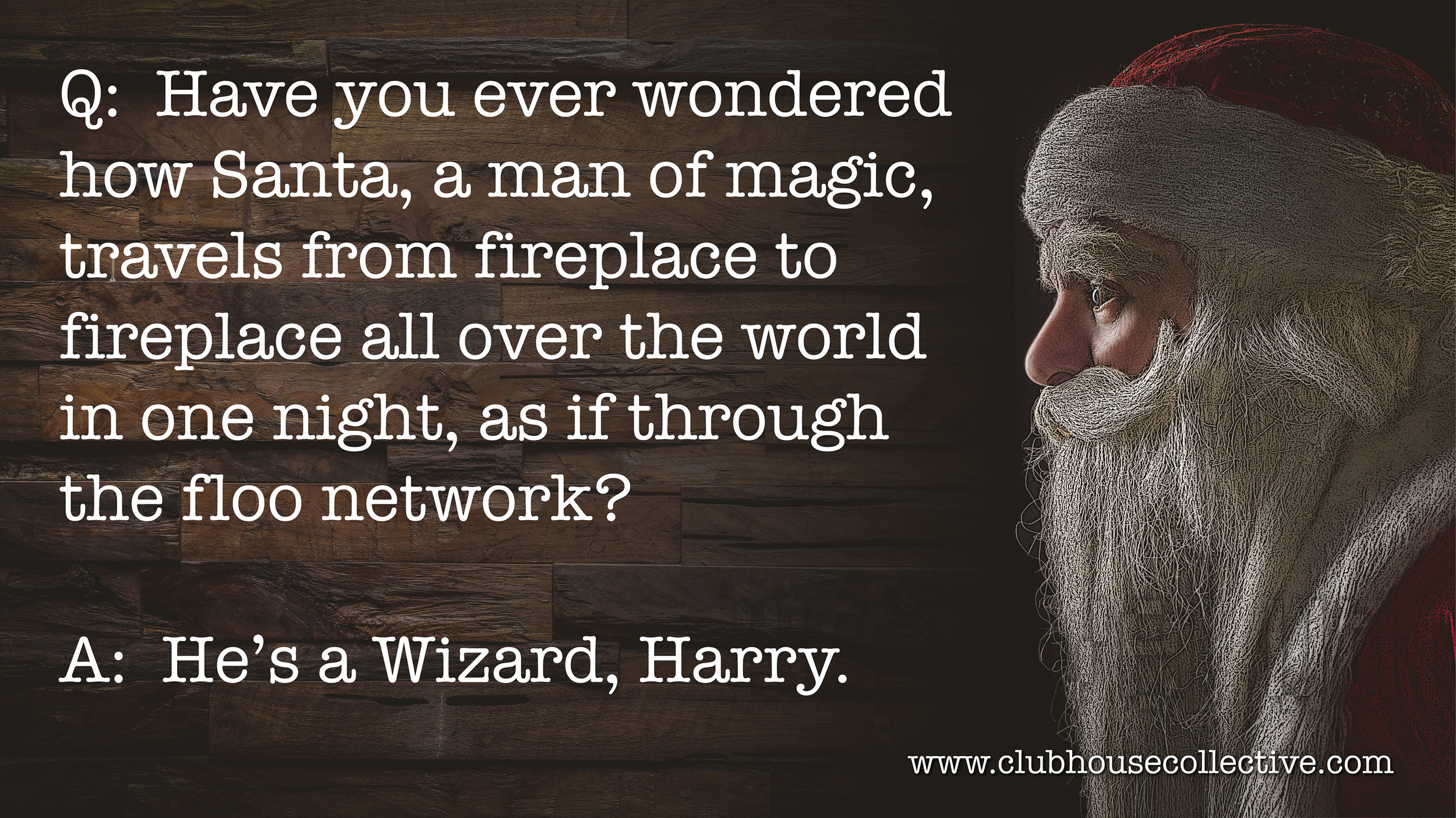 Harry Potter Christmas Wizard. ~ Corinne Jade, ClubHouse Collective