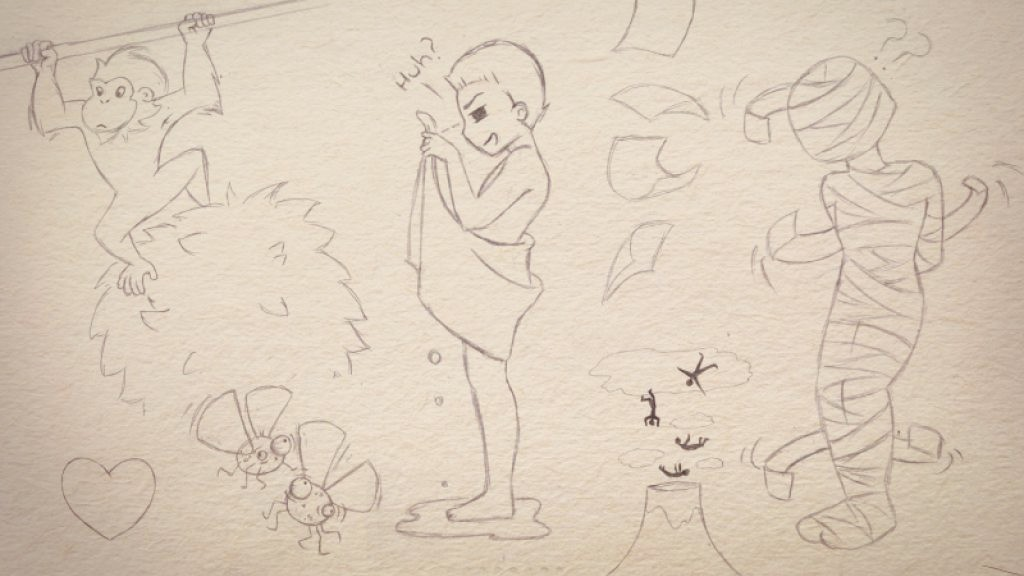 """Doodles from """"Moments of Madness"""" illustrated by Corinne Jade, ClubHouse Collective"""