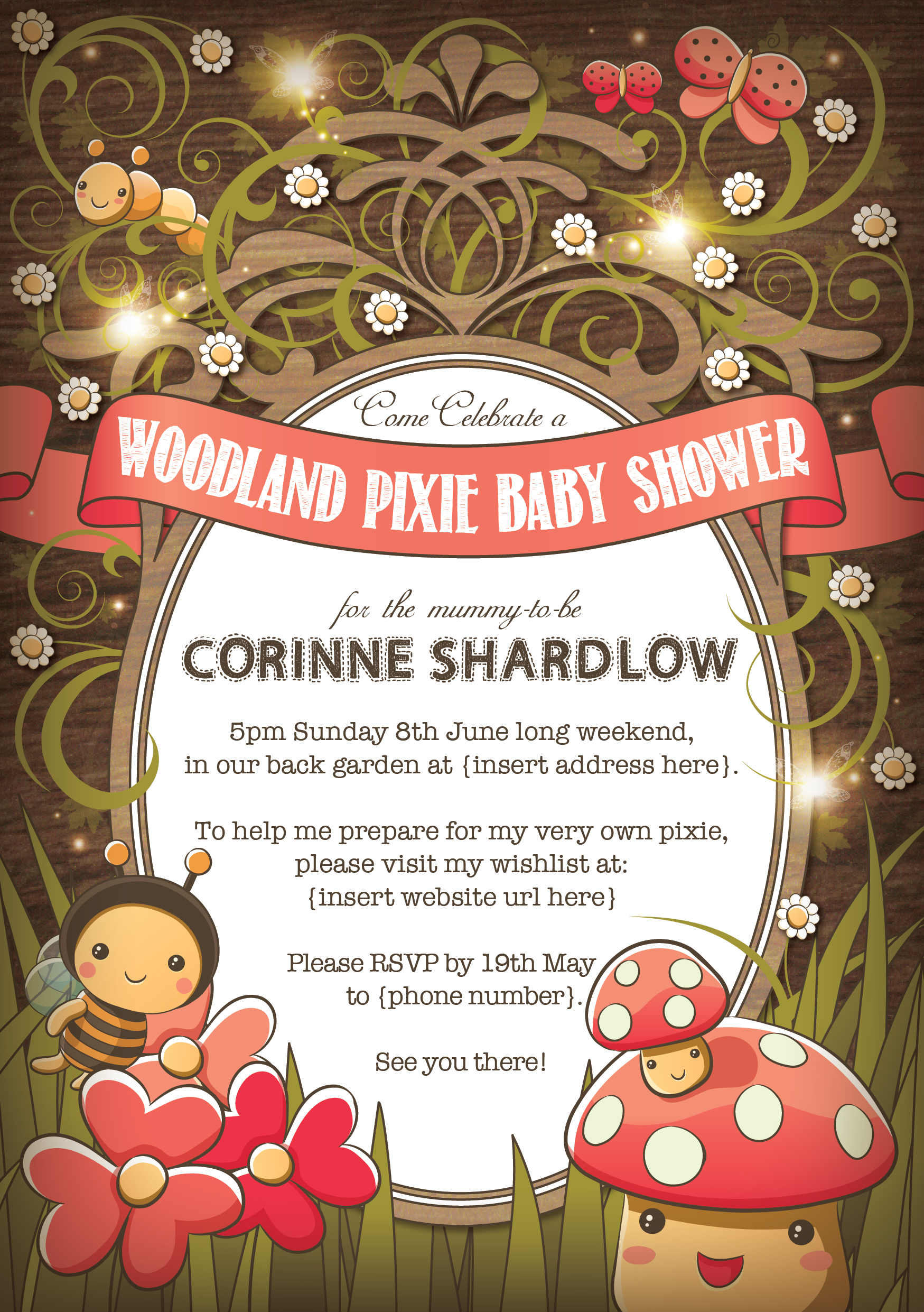 Baby Shower Invitation Design. ~ Corinne Jade, ClubHouse Collective