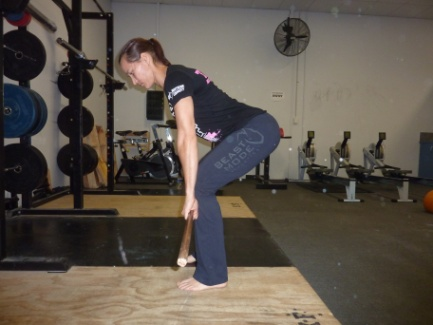 (Figure 1. Neutral back position during lifting)